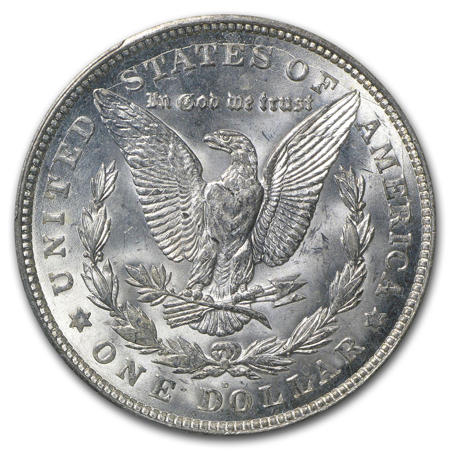 1921-D Morgan Dollar - MS-64+ Plus PCGS