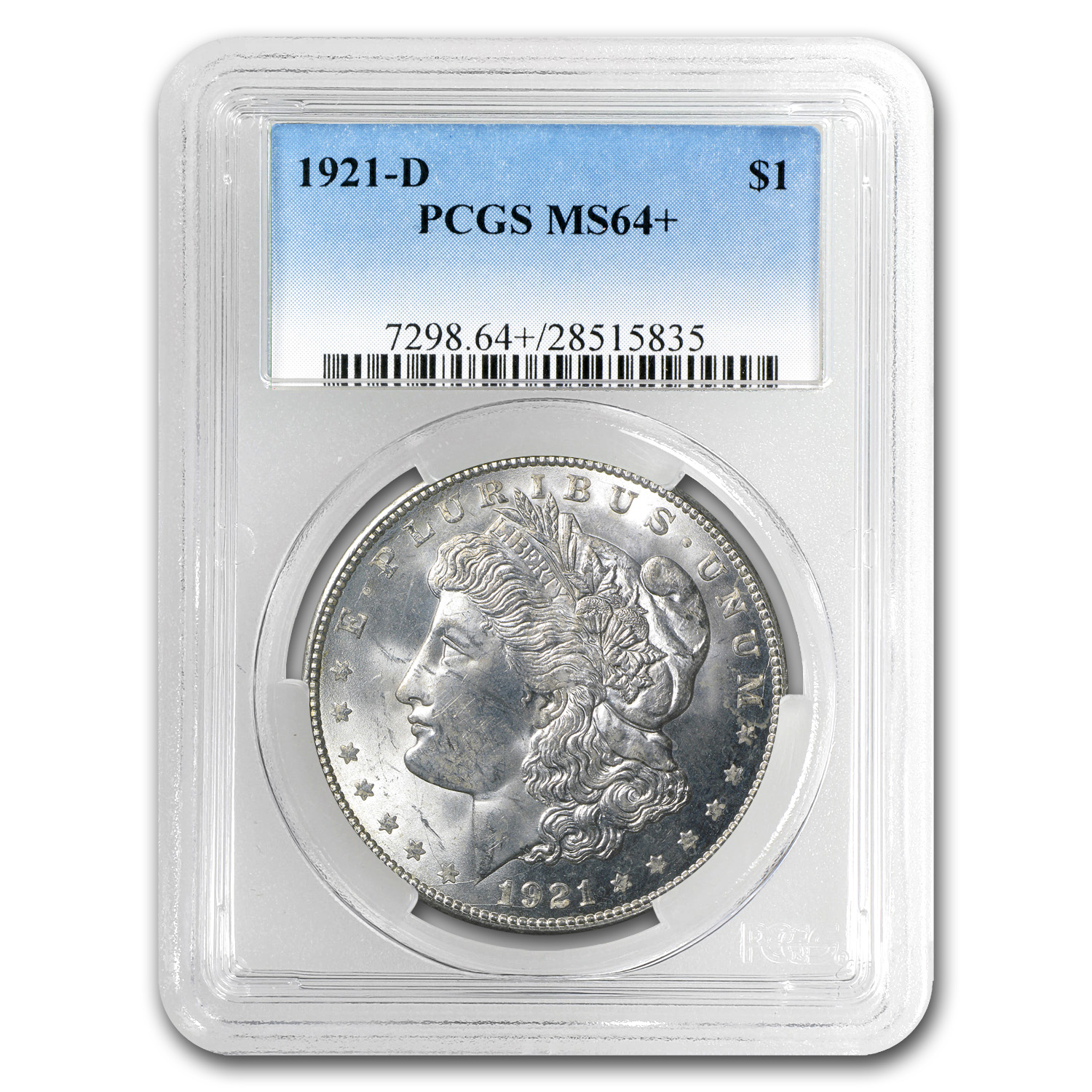 1921-D Morgan Dollar MS-64+ PCGS