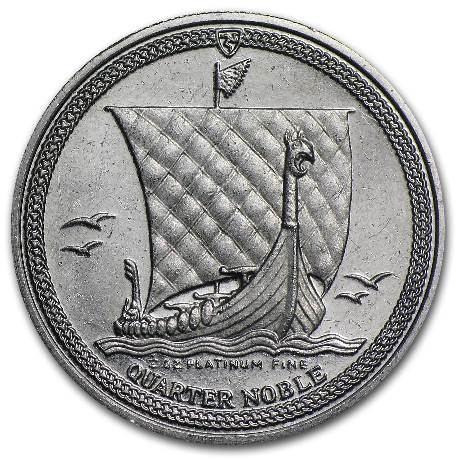 1/4 oz Isle of Man Platinum Noble (Abrasions)