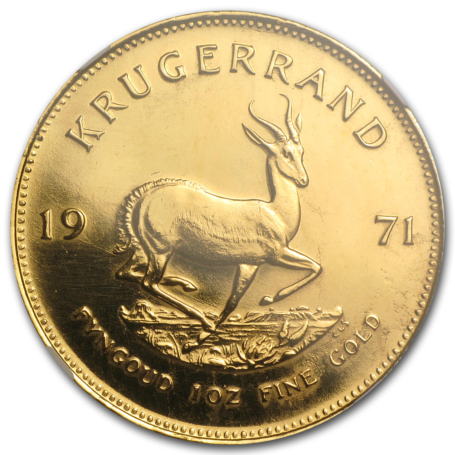 1971 1 oz Gold South African Krugerrand Proof Details NGC