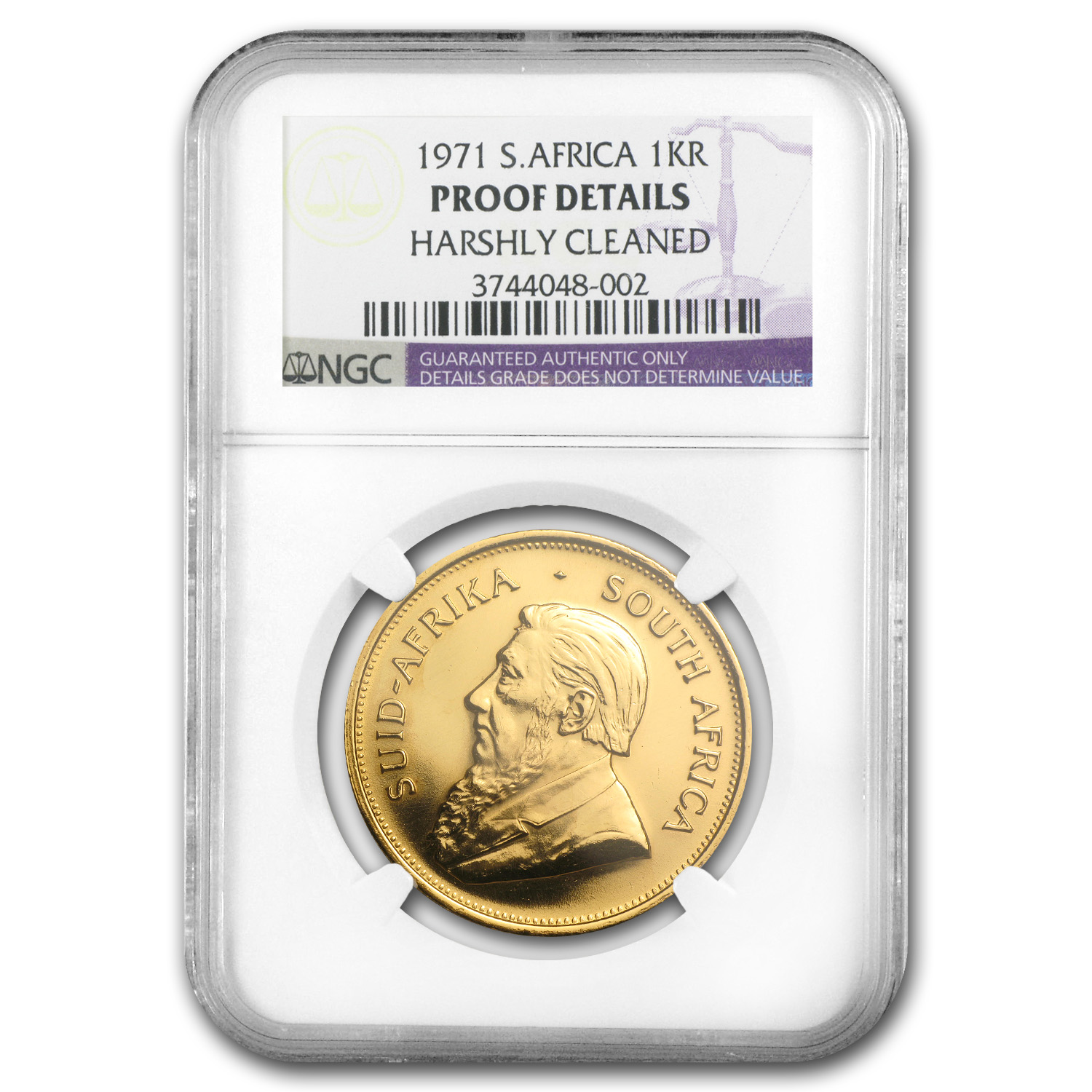 1971 South Africa 1 oz Proof Gold Krugerrand Details NGC