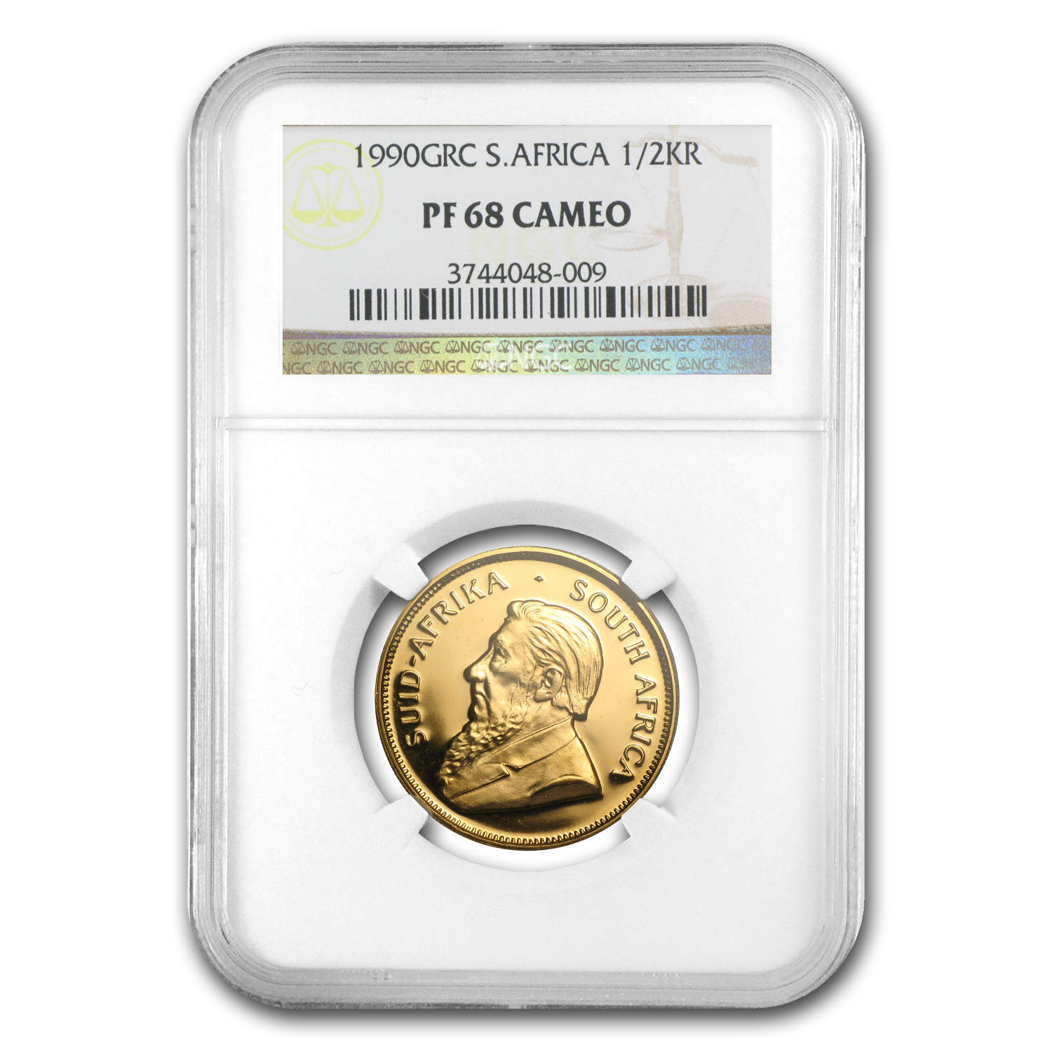 1990 South Africa 1/2 oz Gold Krugerrand PF-68 Cameo NGC (GRC)