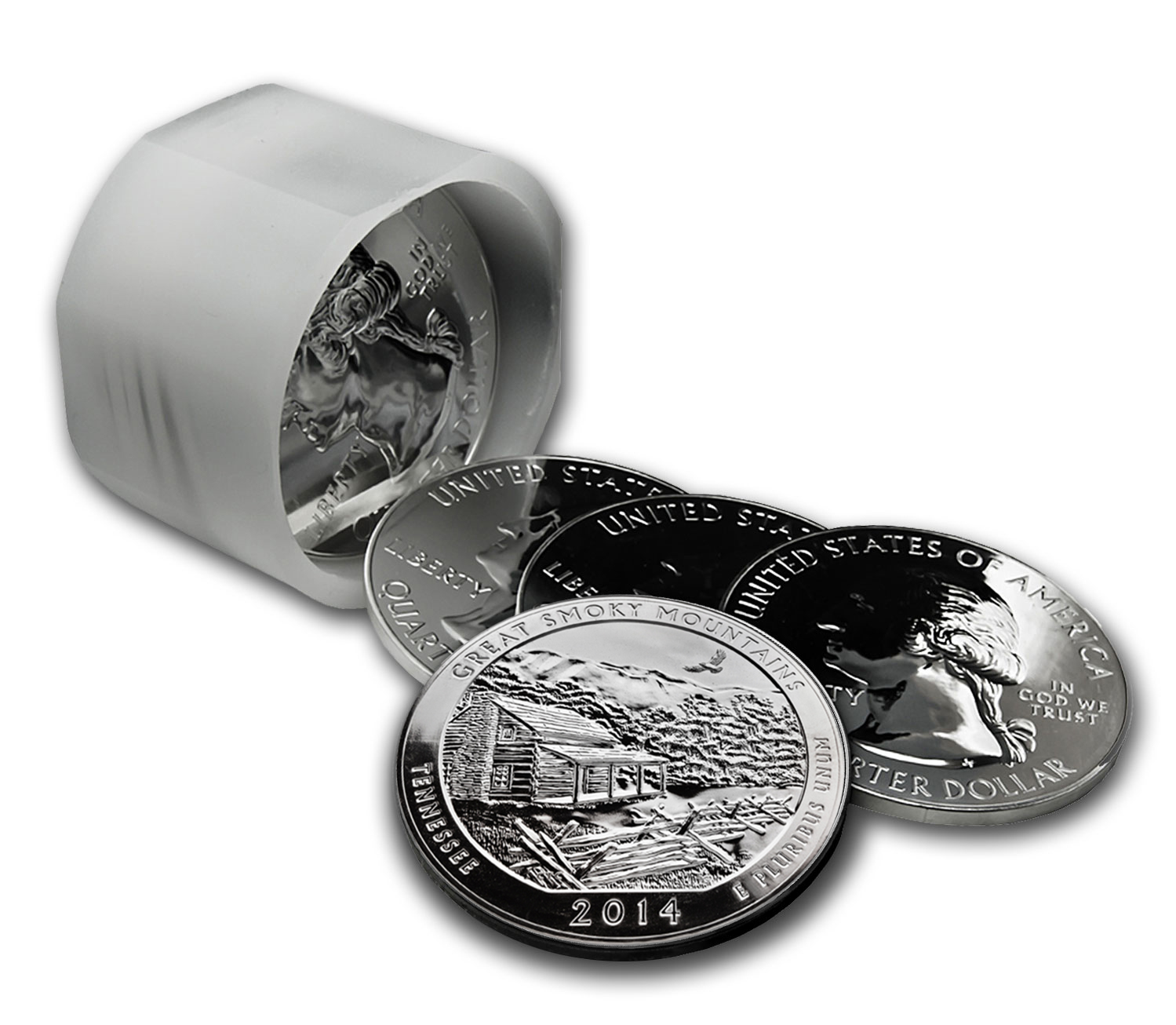 2014 5 oz Silver ATB Great Smoky Mtns.(10-coin MintDirect®)