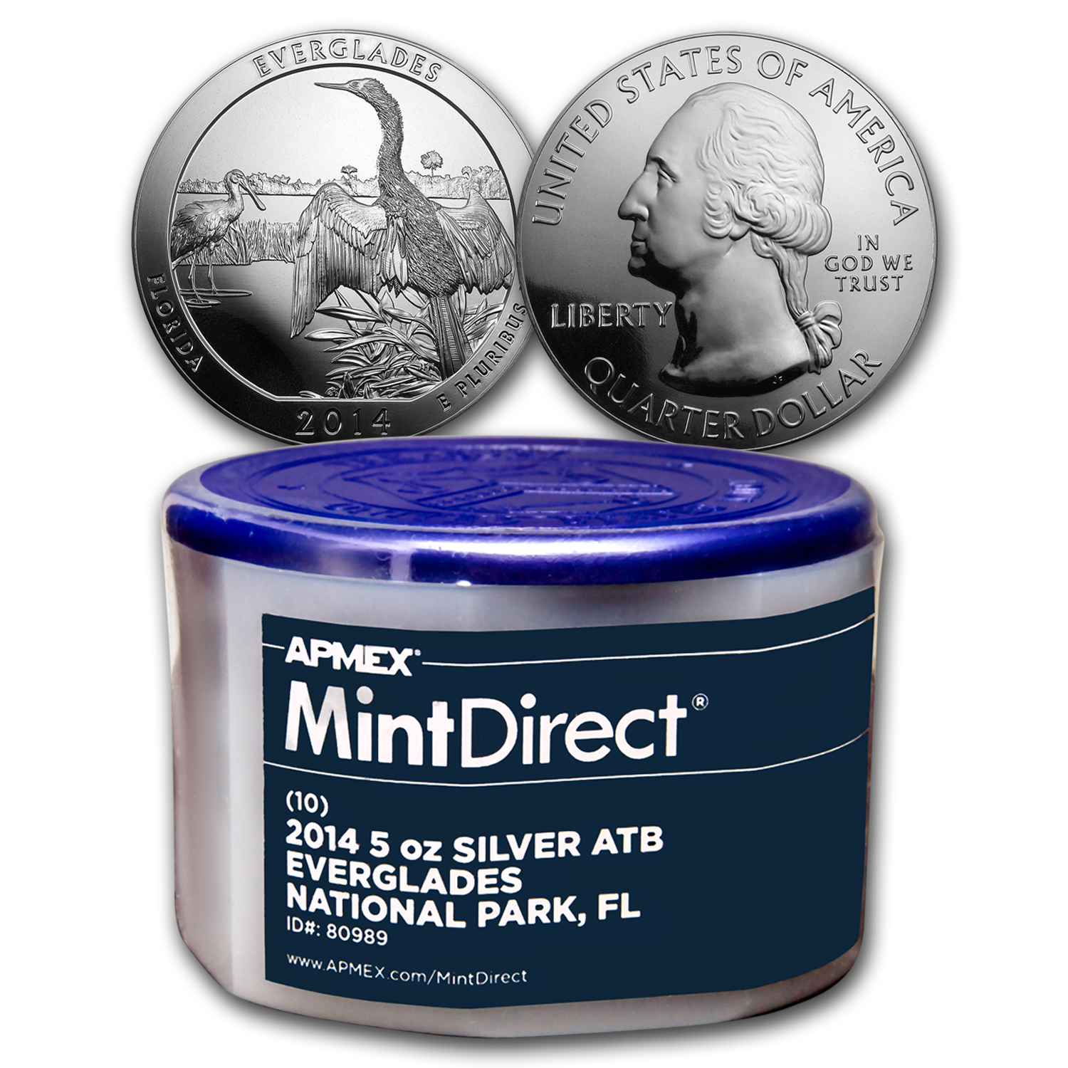 2014 5 oz Silver ATB Everglades (10-Coin MintDirect® Tube)