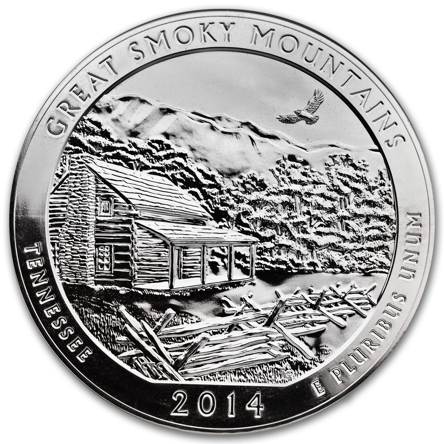 2014 5 oz Silver ATB Great Smoky Mountains (Sealed Monster Box)
