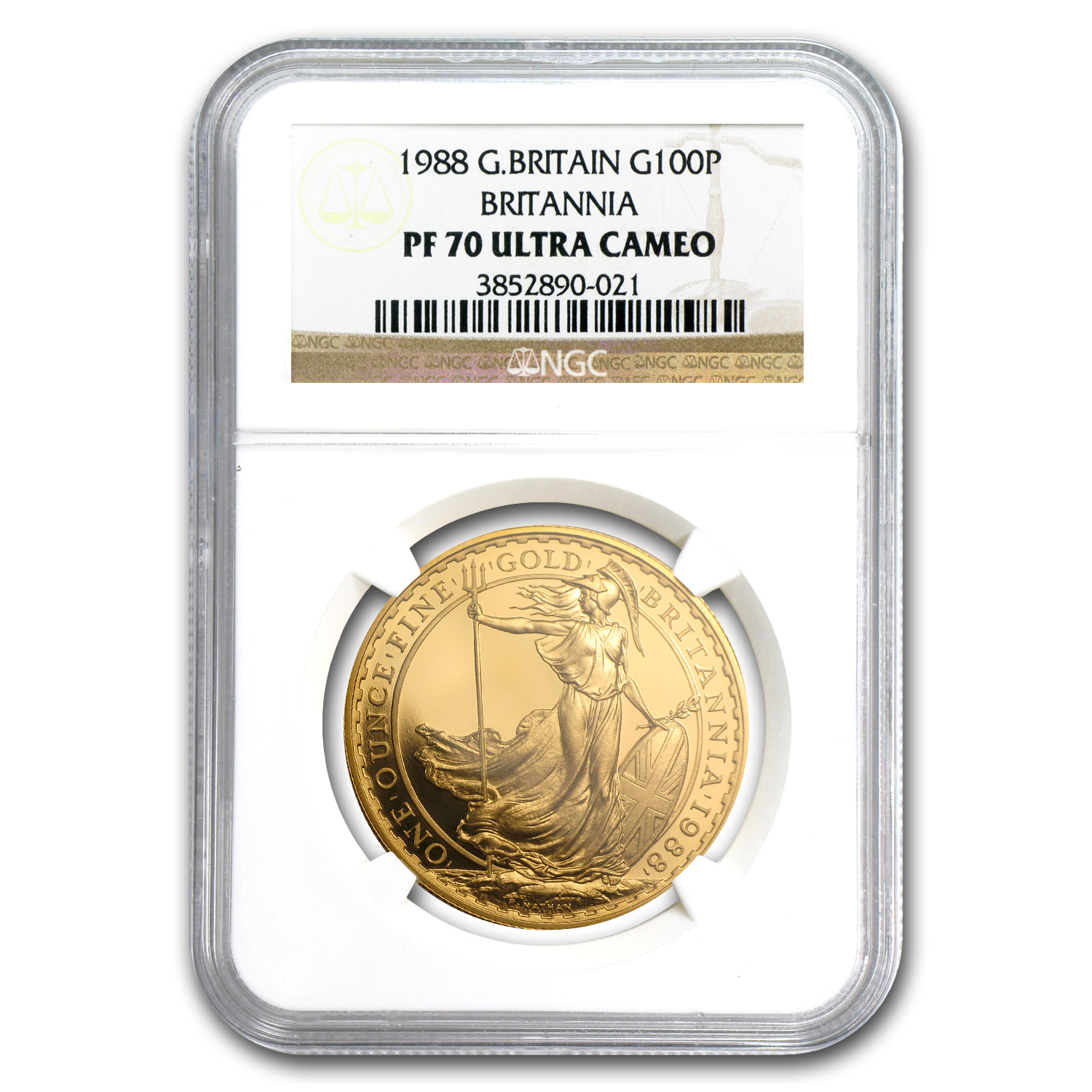 1988 1 oz Proof Gold Britannia PF-70 UCAM NGC - Registry Set