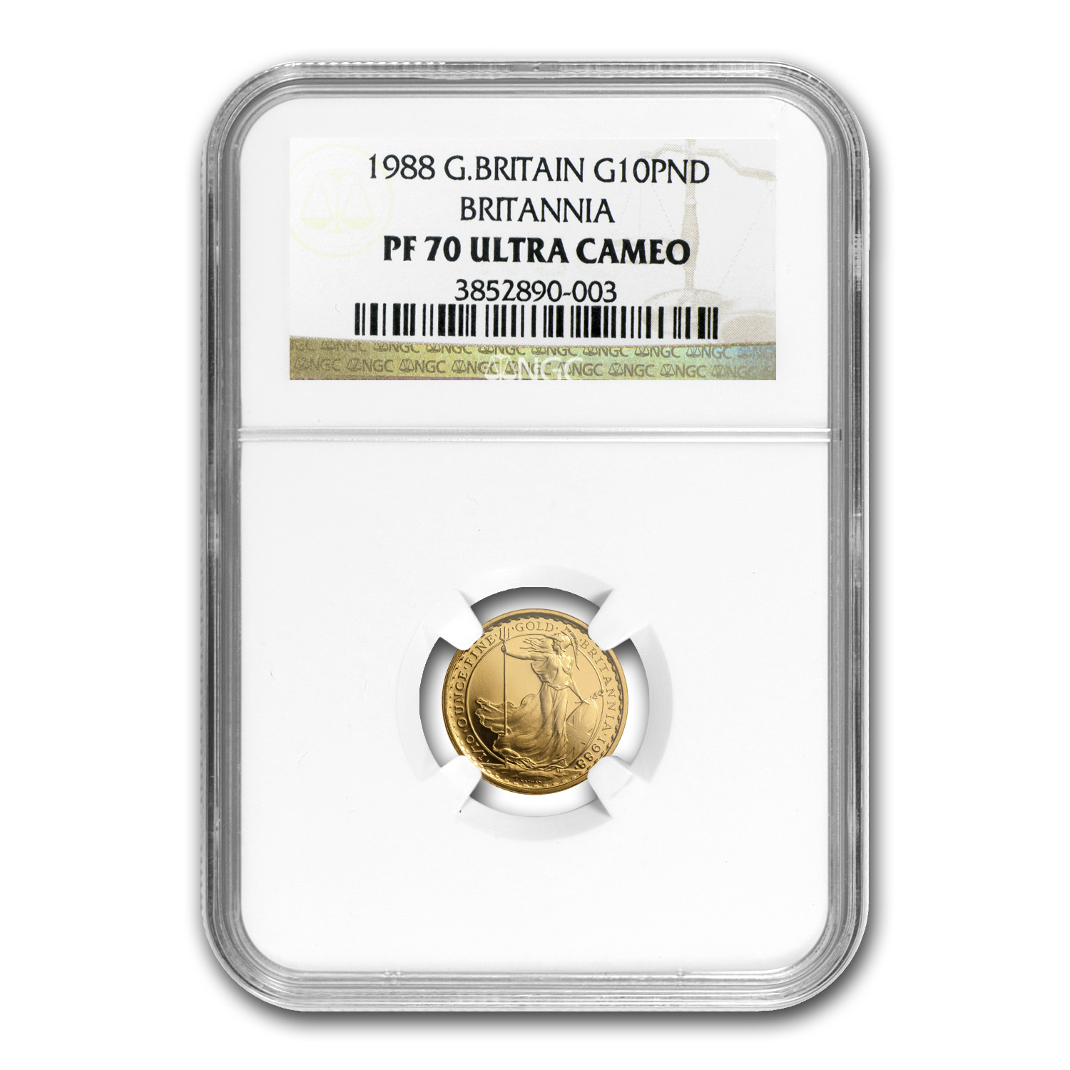 1988 1/10 oz Proof Gold Britannia PF-70 NGC