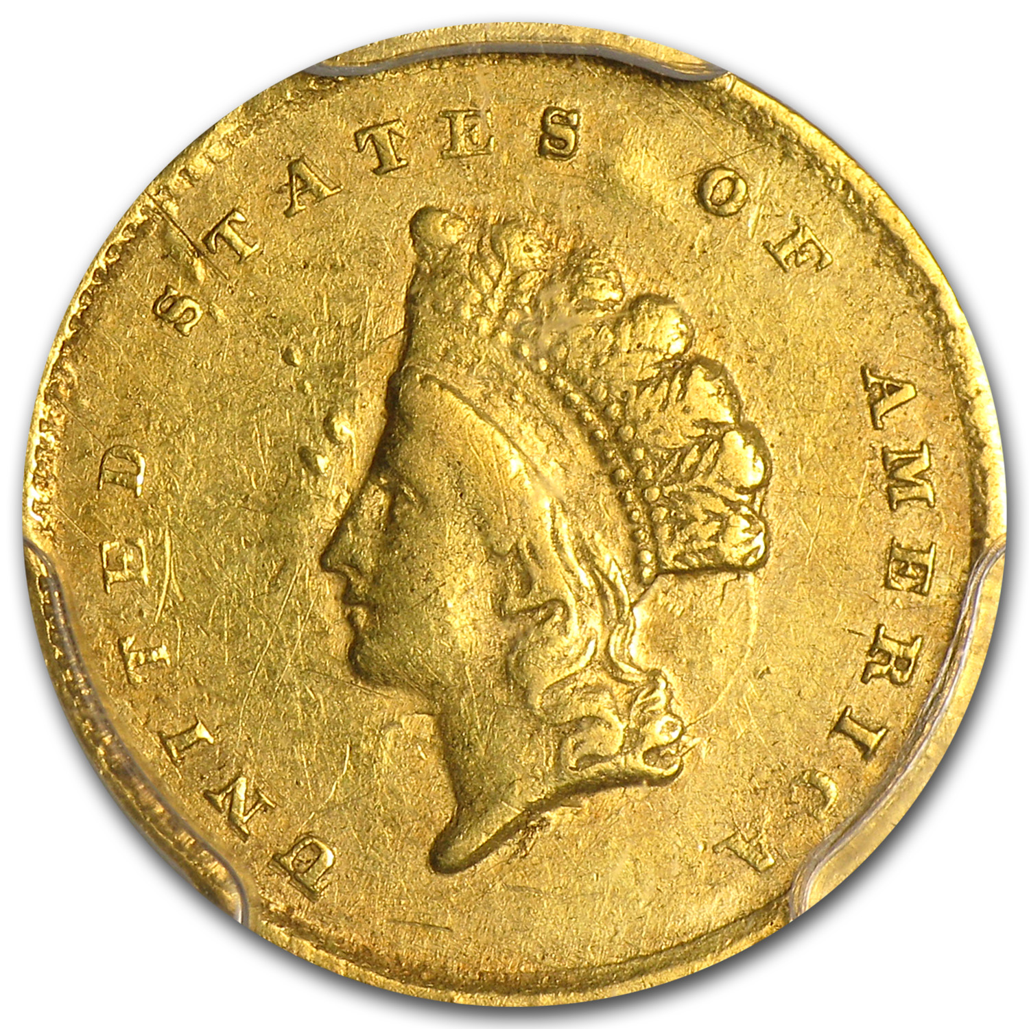 1855-C $1 Indian Head Gold - XF Details - PCGS