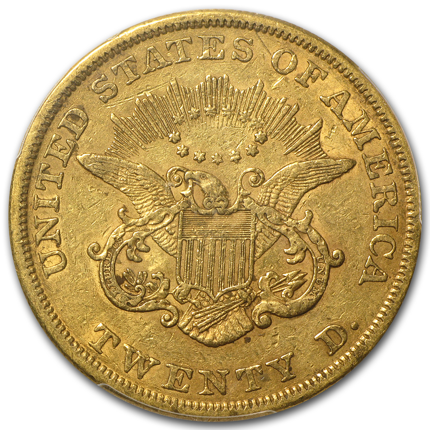 1856 $20 Gold Liberty Double Eagle - XF-40 PCGS