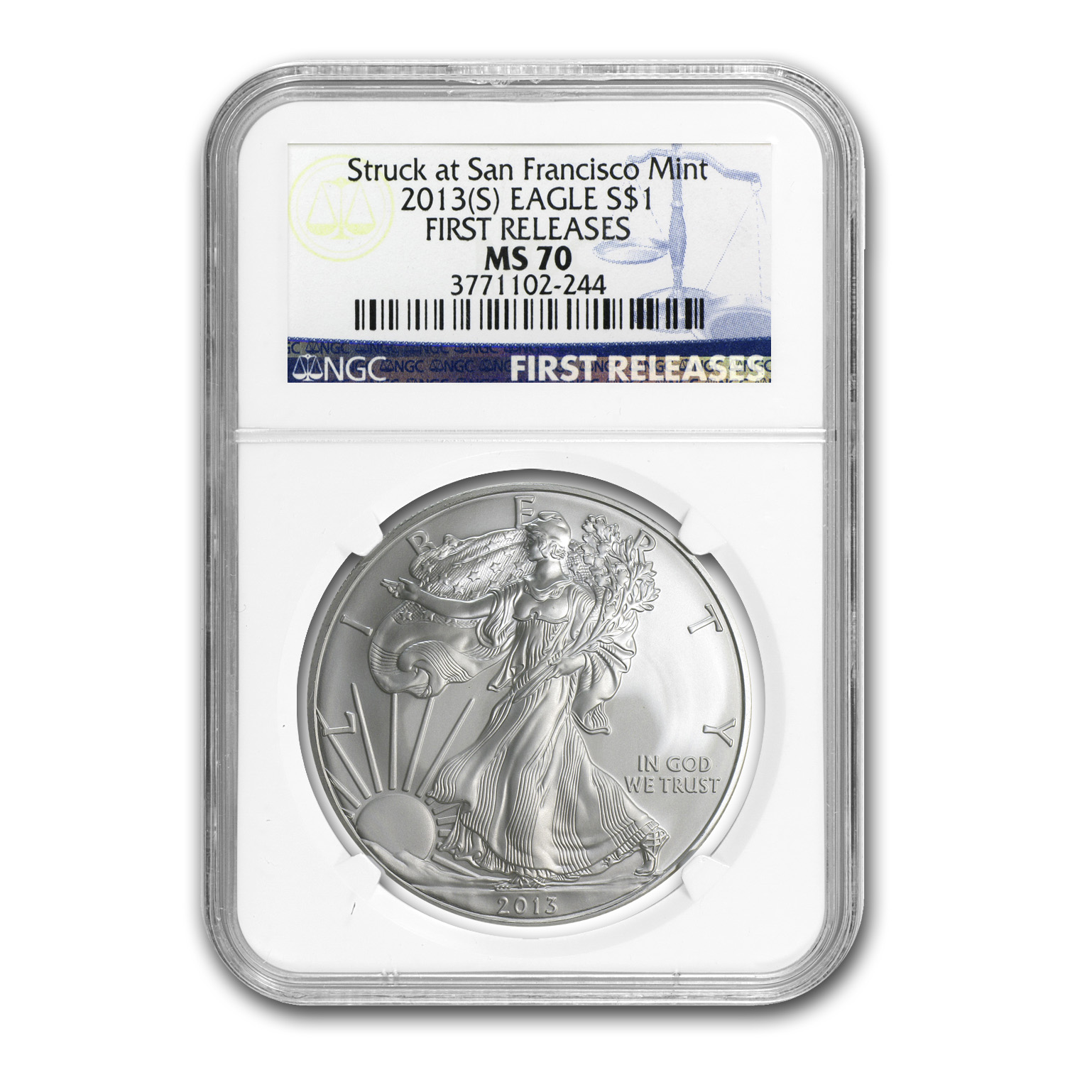 2013 (S) Silver American Eagle - MS-70 NGC - First Releases
