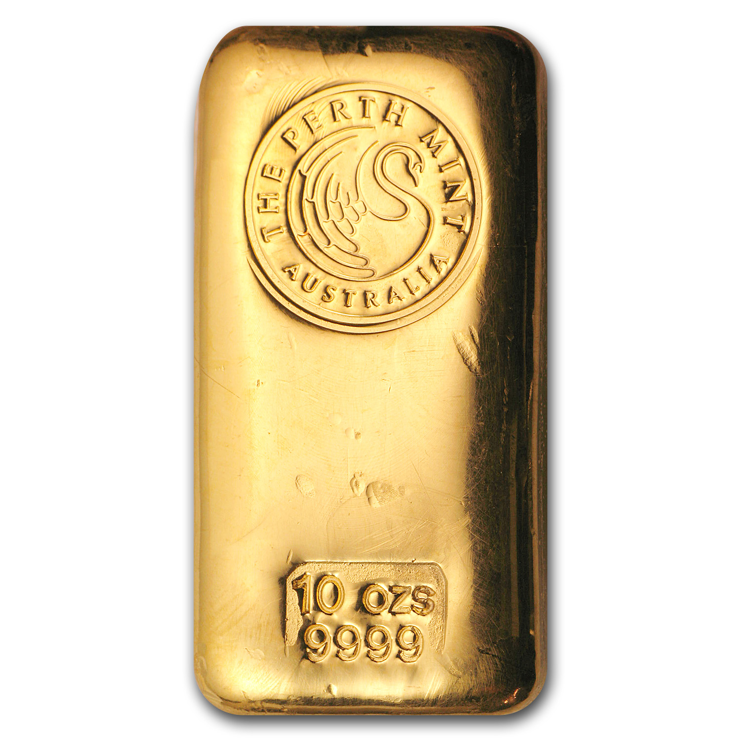 10 oz Gold Bar - Perth Mint (Poured/Loaf-Style)