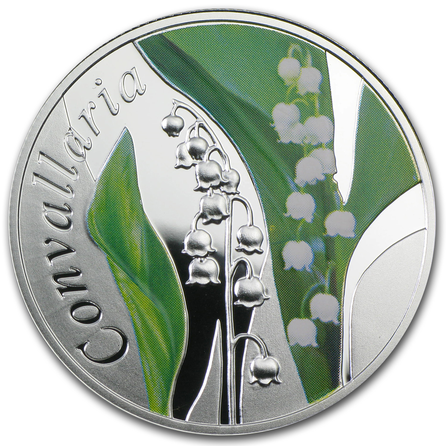 2013 Belarus Silver Under the Charm of Flowers Lily of the Valley