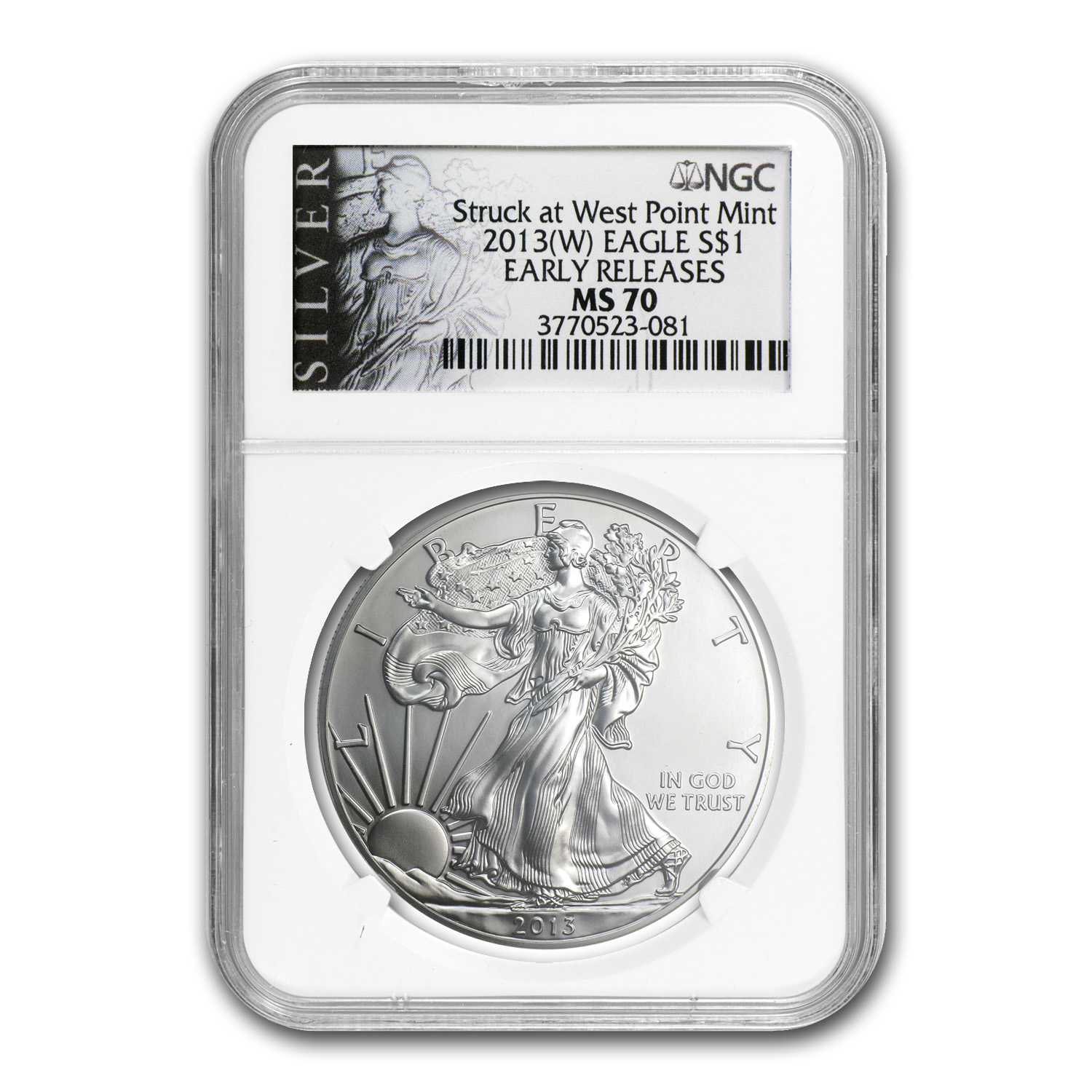 2013 (W) Silver American Eagle MS-70 NGC (ALS Label, ER)