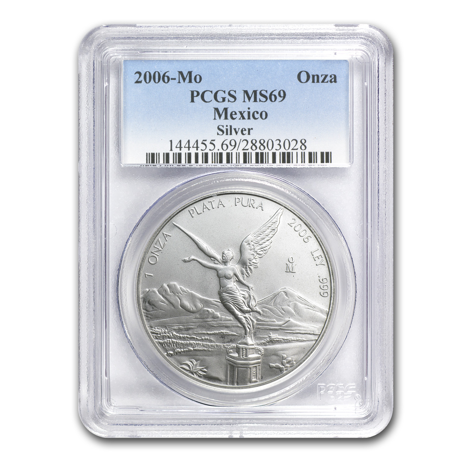 2006 1 oz Silver Mexican Libertad MS-69 PCGS