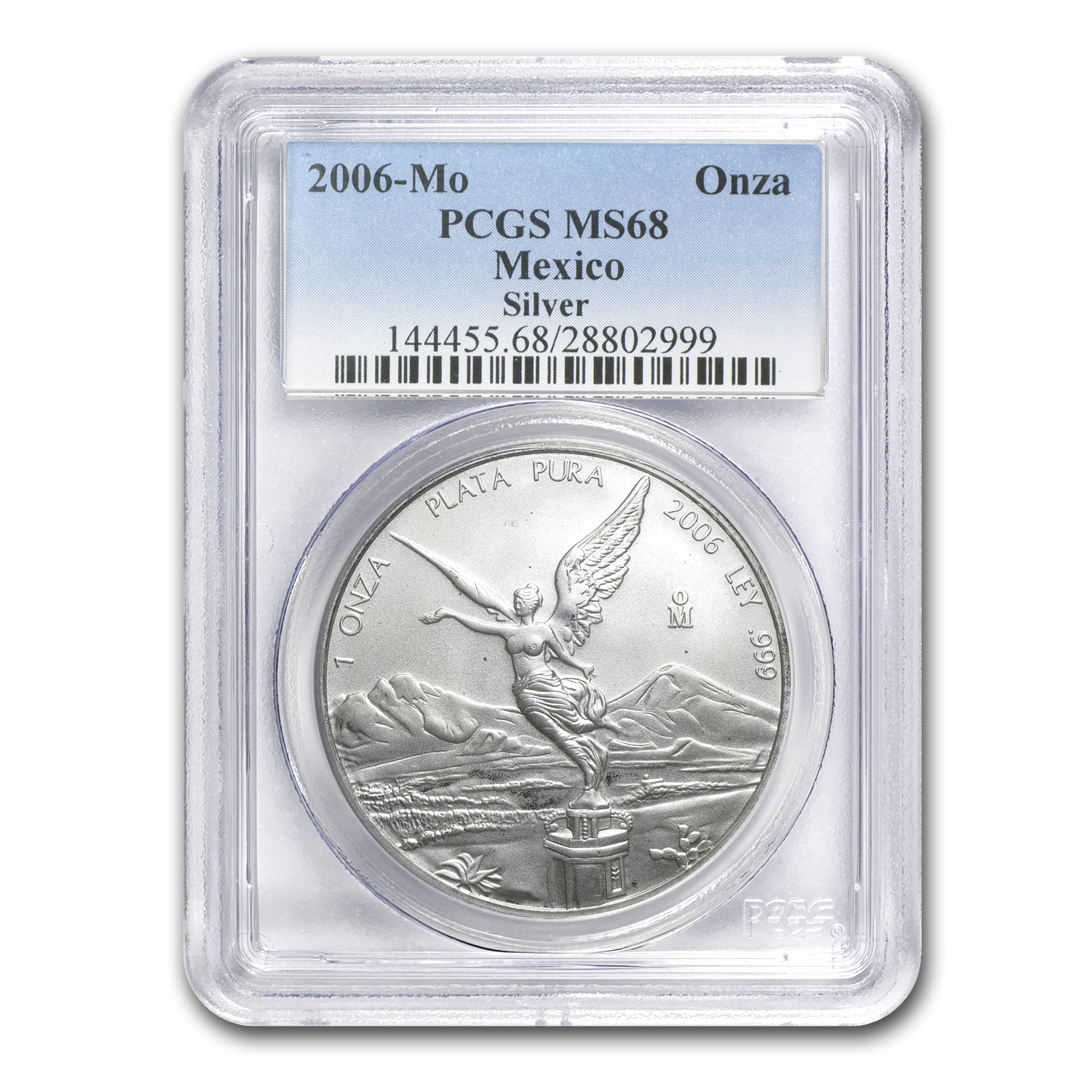 2006 1 oz Silver Mexican Libertad MS-68 PCGS