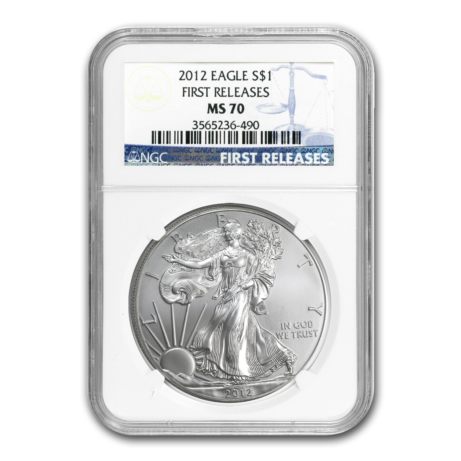 2012 Silver American Eagle - MS-70 NGC - First Releases