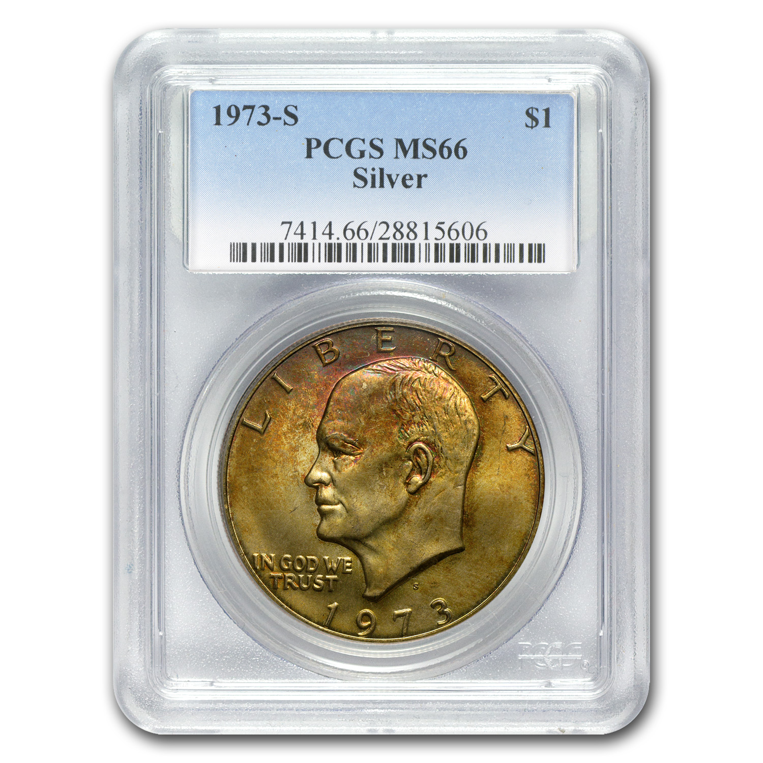 1973-S Silver Eisenhower Dollar MS-66 PCGS (Toned)