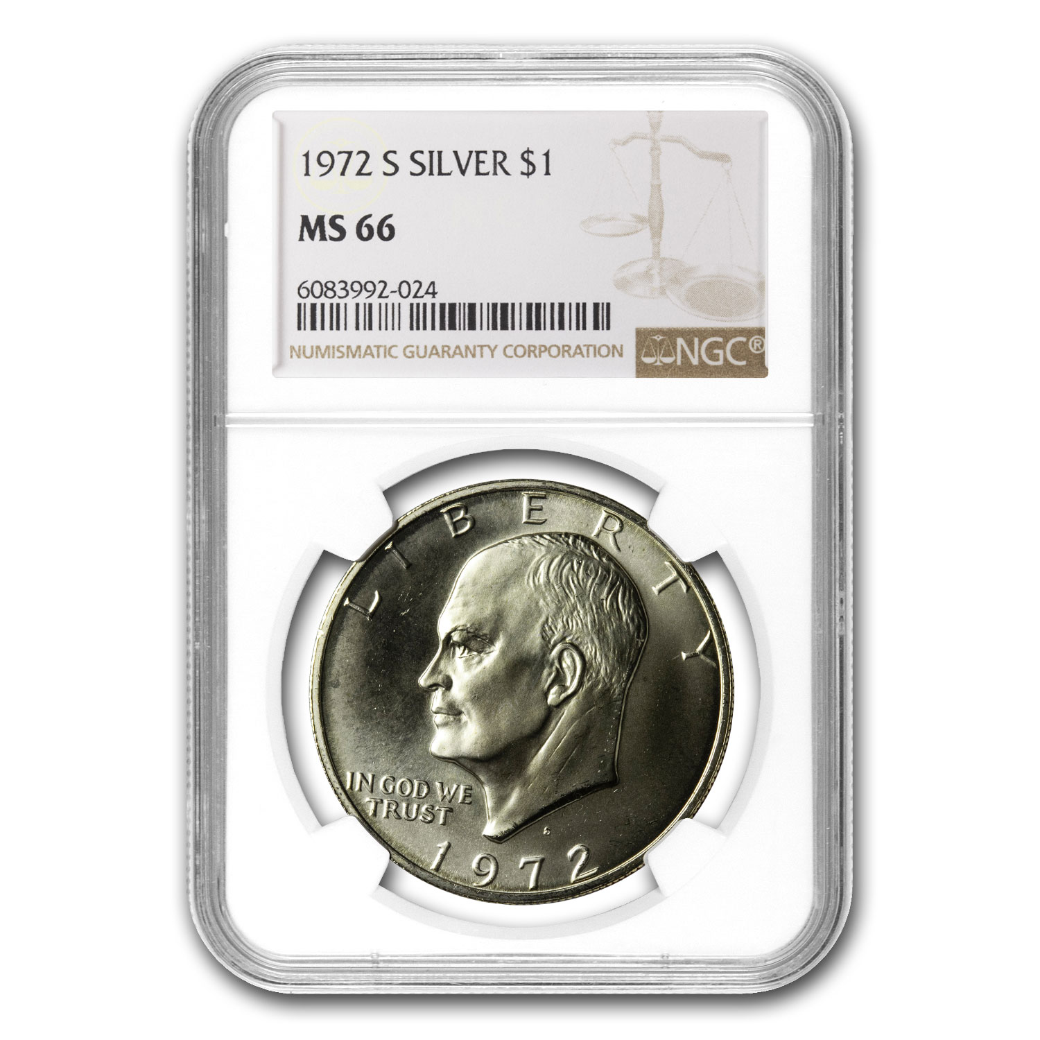 1972-S Eisenhower Silver Dollar MS-66 PCGS