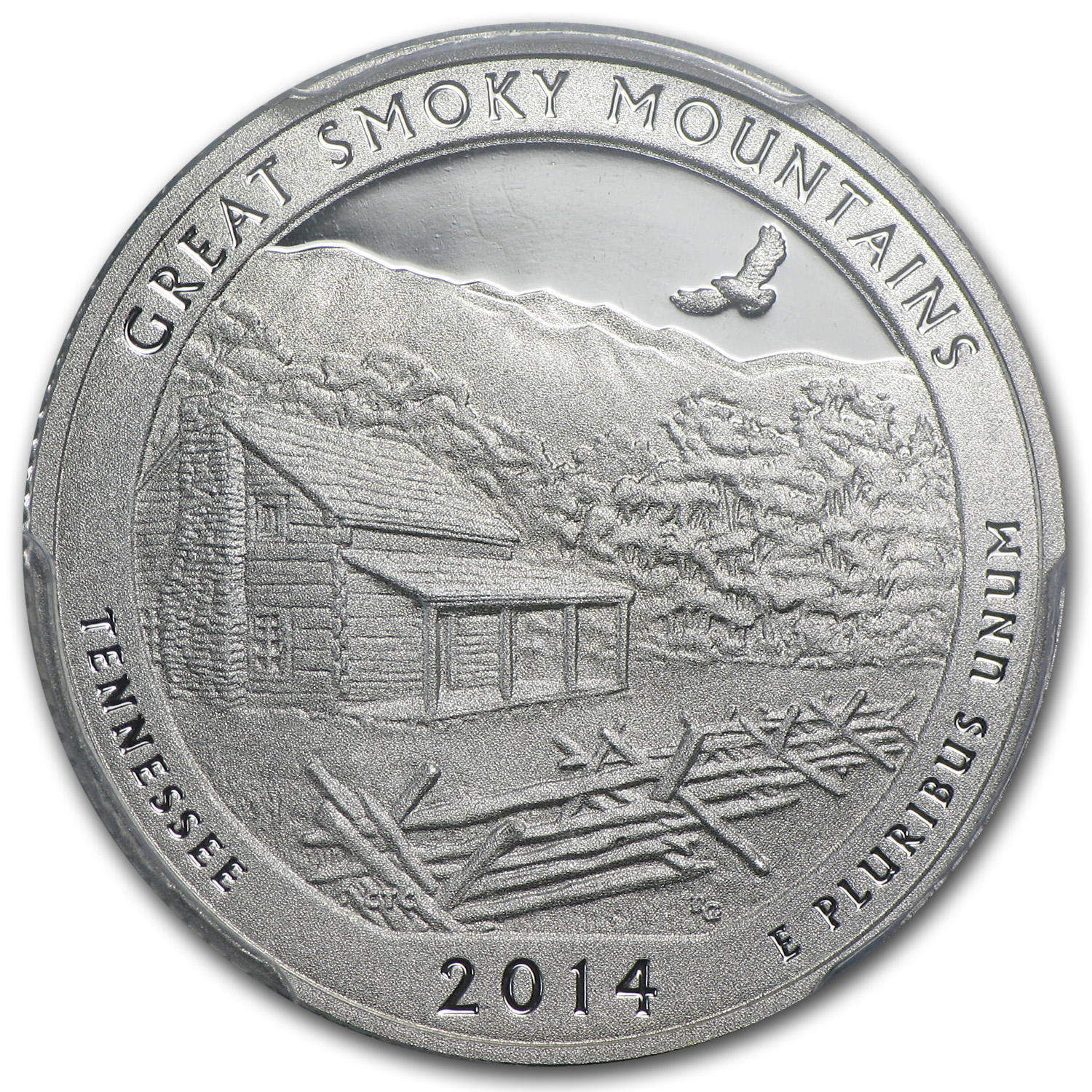 2014-S Silver Quarter ATB Smoky Mountain PR-70 PCGS (FS)