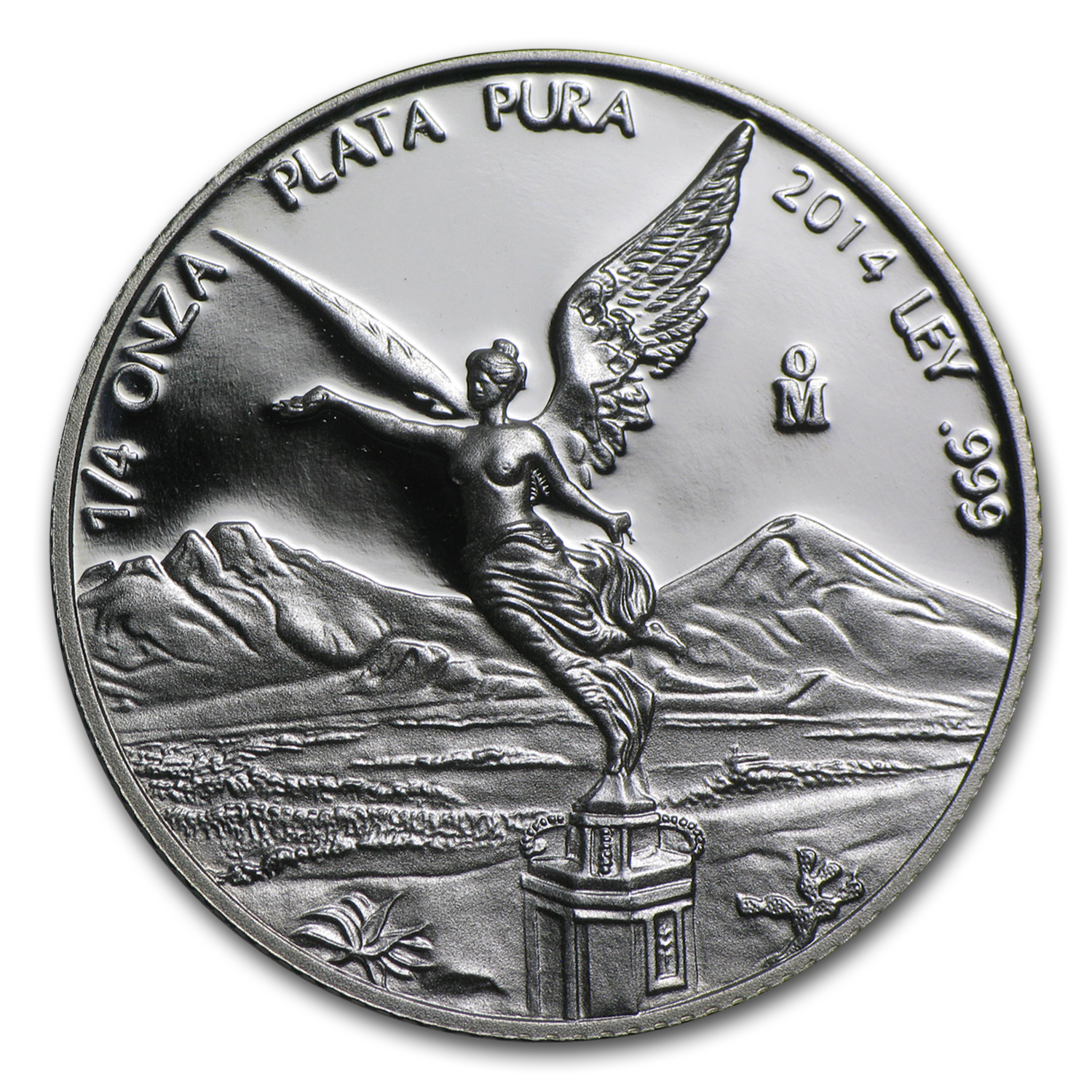 2014 Mexico 1/4 oz Silver Libertad Proof (In Capsule)