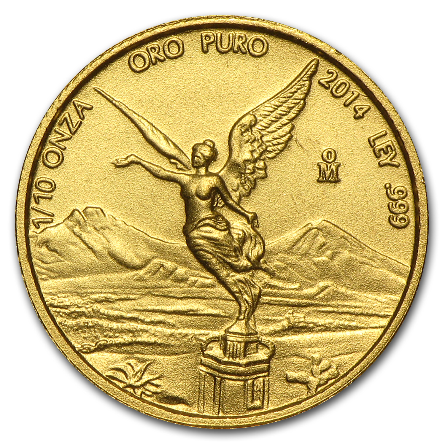 2014 Mexico 1/10 oz Gold Libertad BU