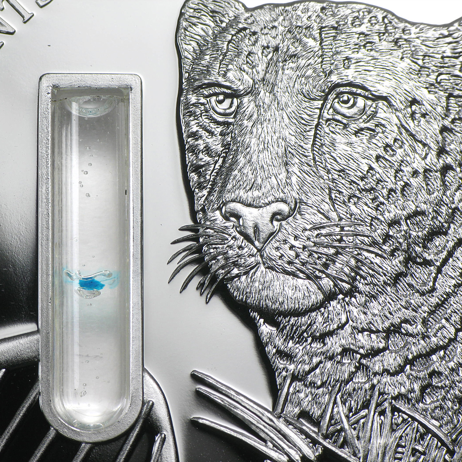 2014 Congo 2 oz Silver Elements of Life Cheetah