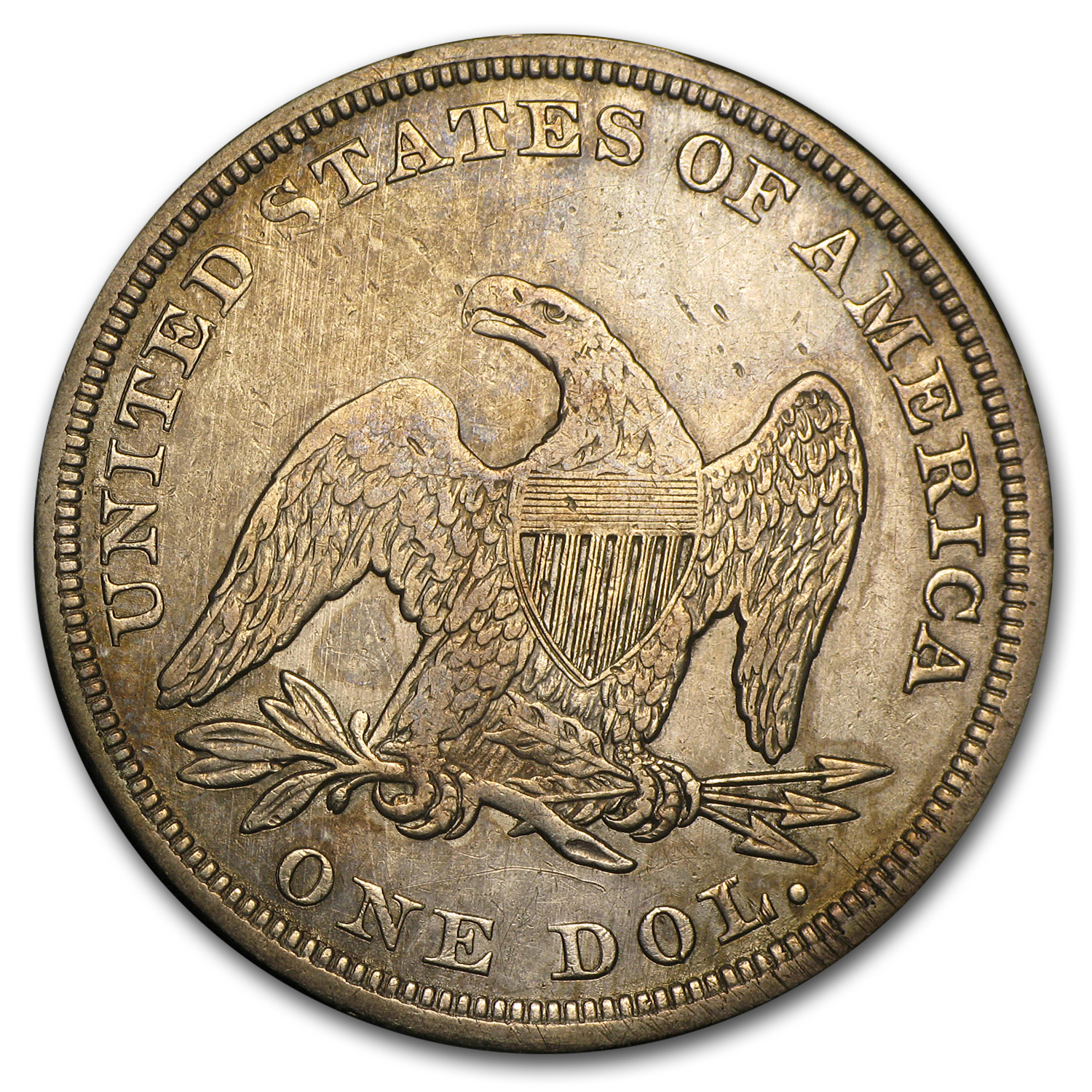 1857 Liberty Seated Dollar XF