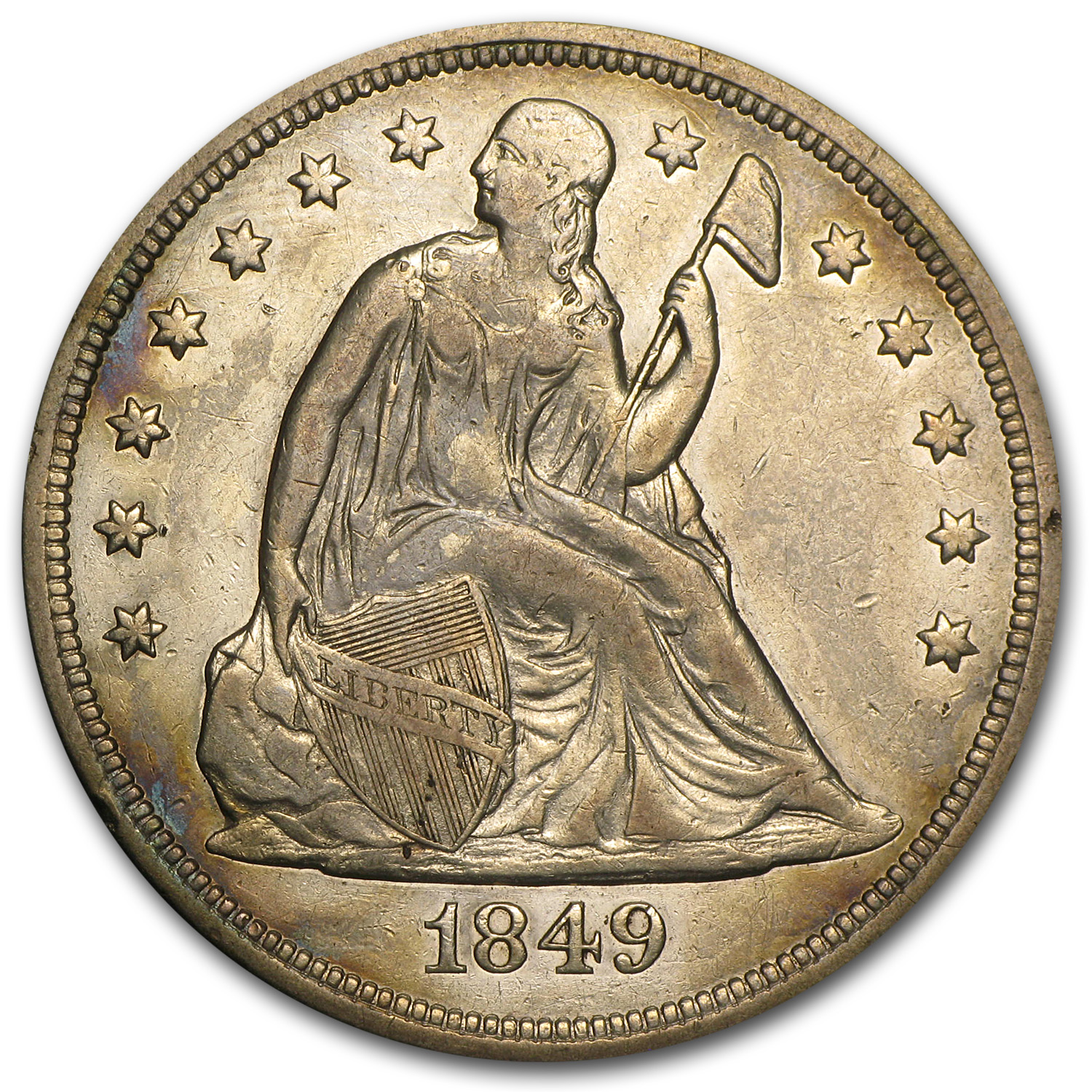 1849 Liberty Seated Dollar - Extra Fine