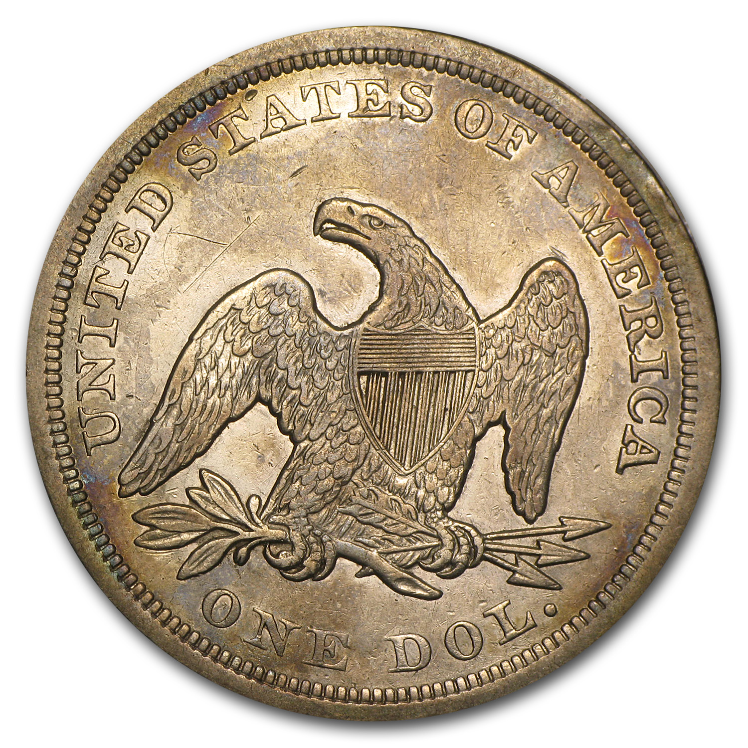 1849 Liberty Seated Dollar XF