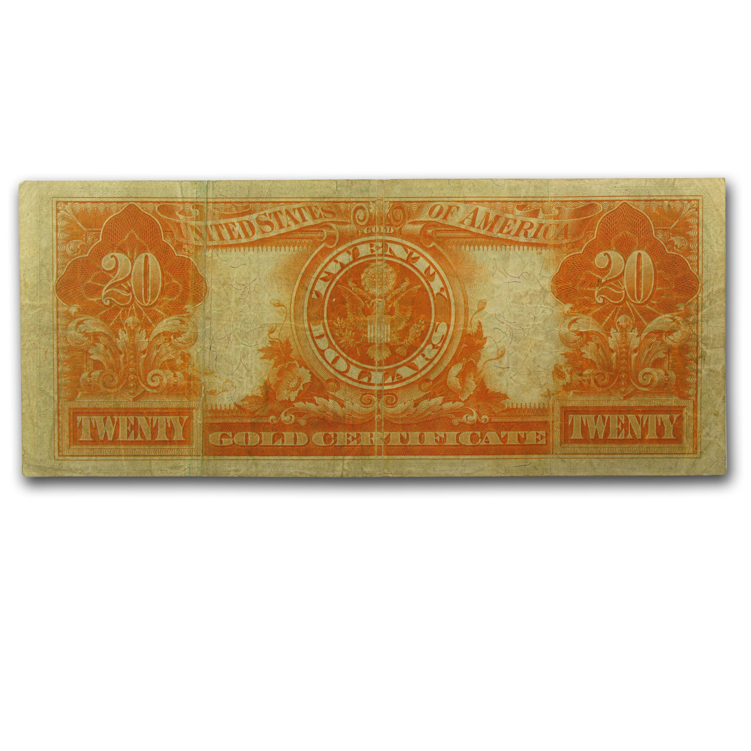 1922 $20 Gold Certificate VF-20 PCGS