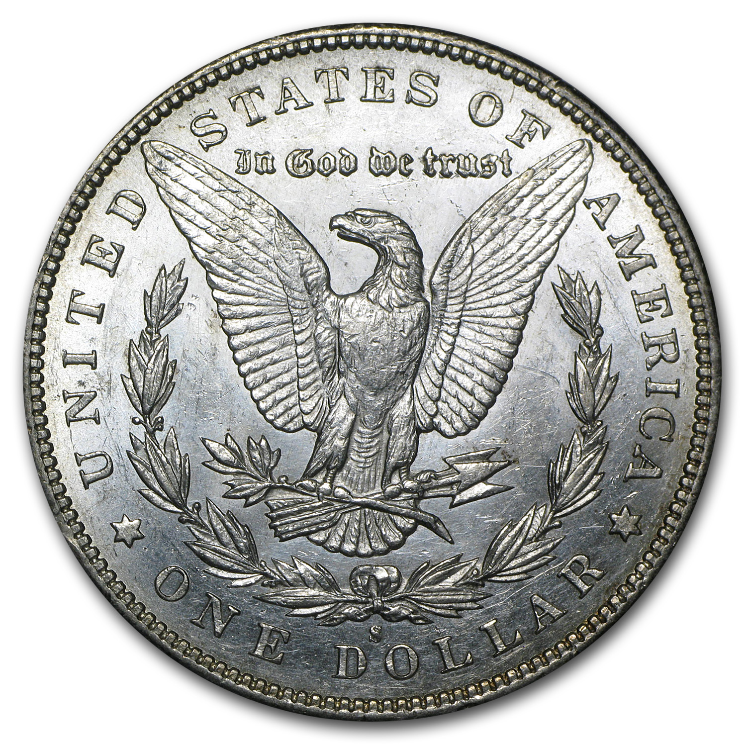 1895-S Morgan Dollar - Almost Uncirculated-58