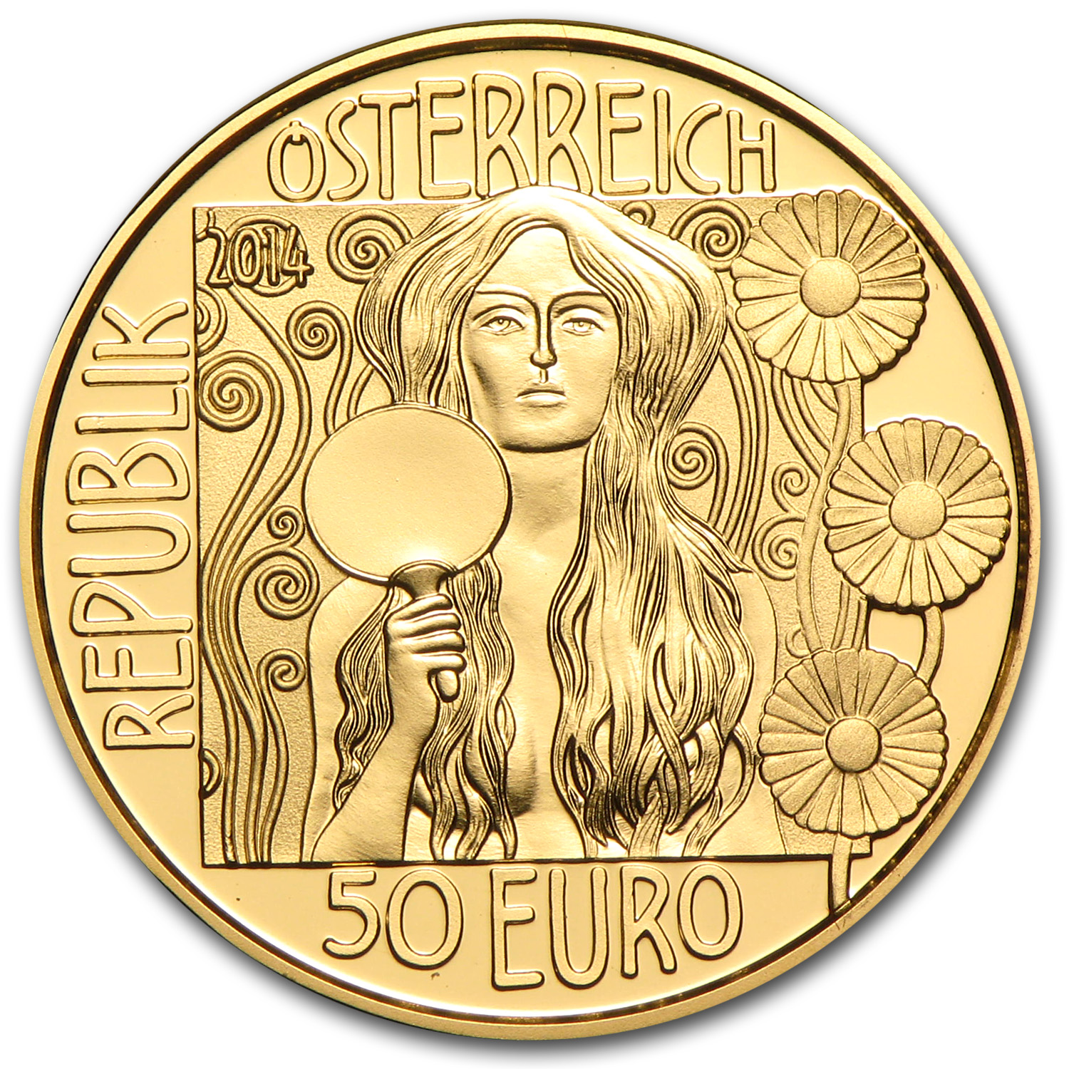 2014 Austria Gold Proof €50 Klimt Series: Judith II