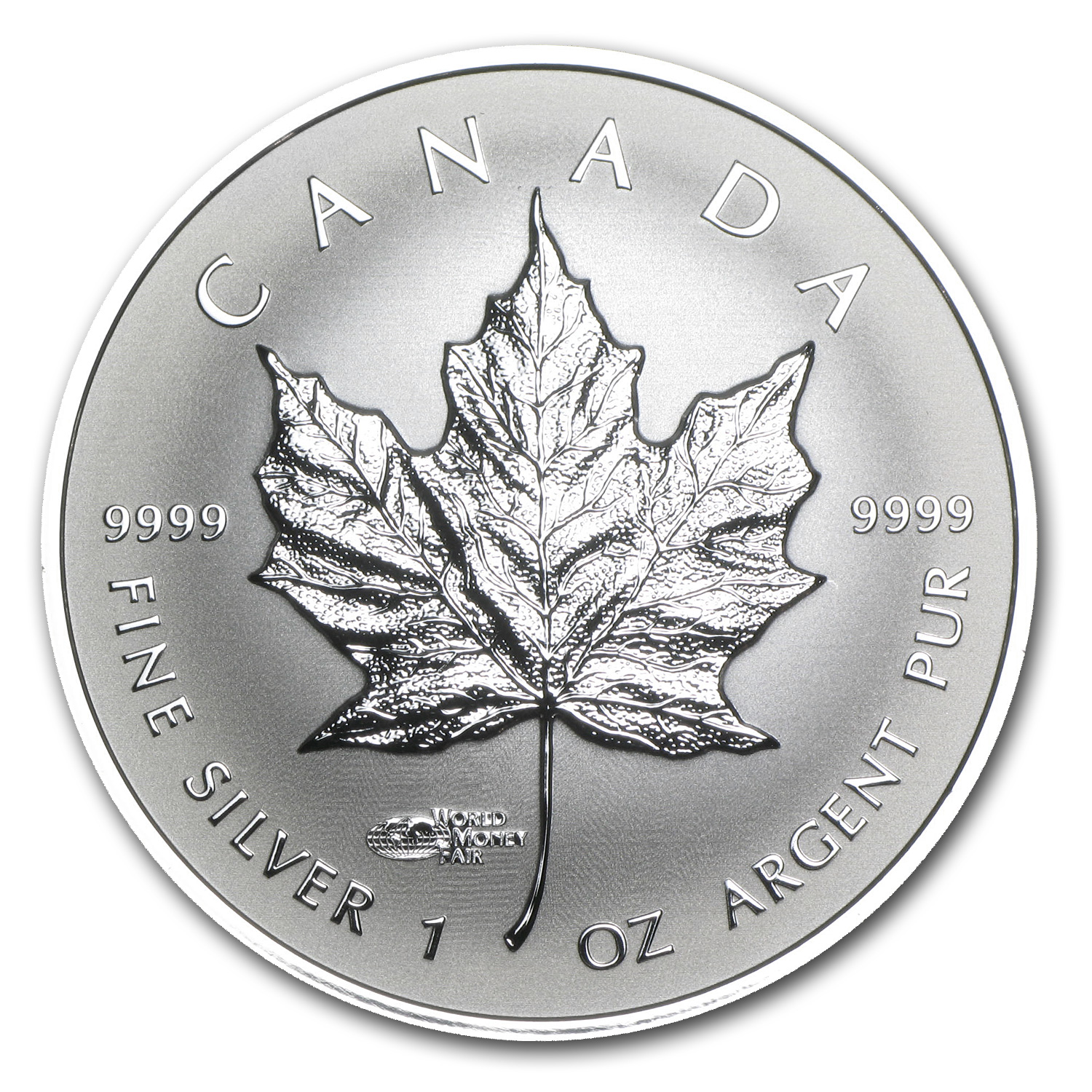 2014 Canada 1 oz Silver Reverse Prf Maple Leaf WMF Privy Mark