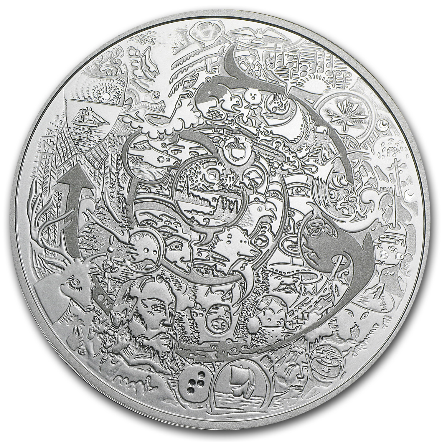 2014 2 oz Silver Canadian $30 Coin - Canadian Contemporary Art