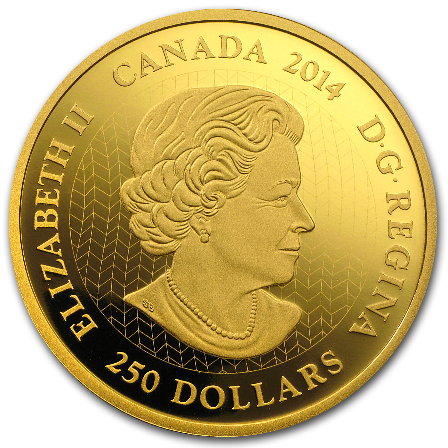 2014 2 oz Gold Canadian $250 Coin - Canadian Contemporary Art