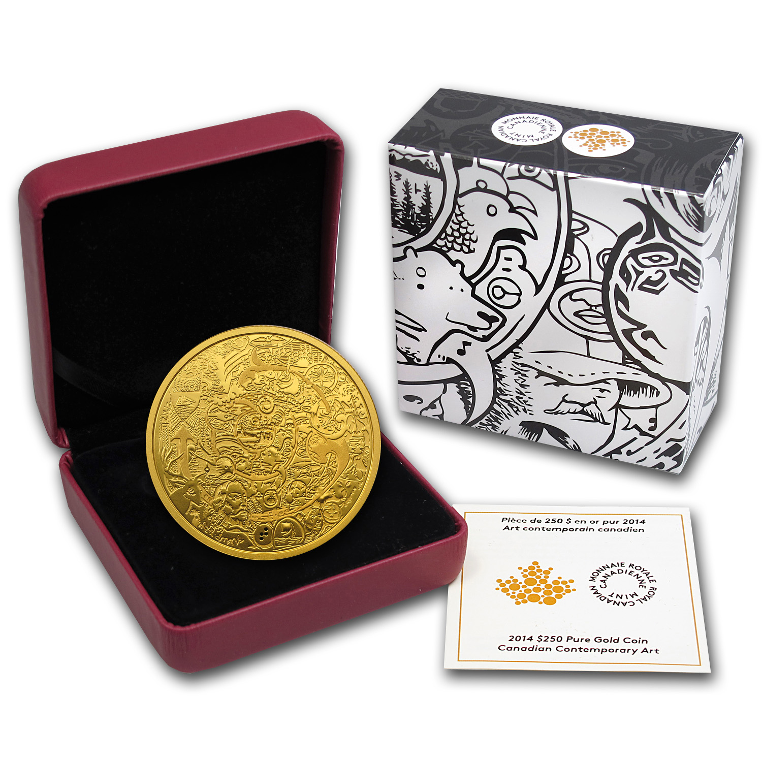 2014 Canada 2 oz Proof Gold $250 Canadian Contemporary Art