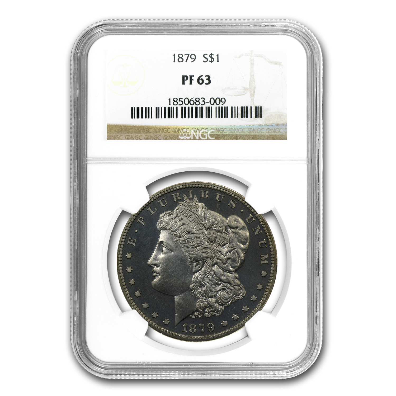 1879 Morgan Dollar - PF-63 NGC - Proof