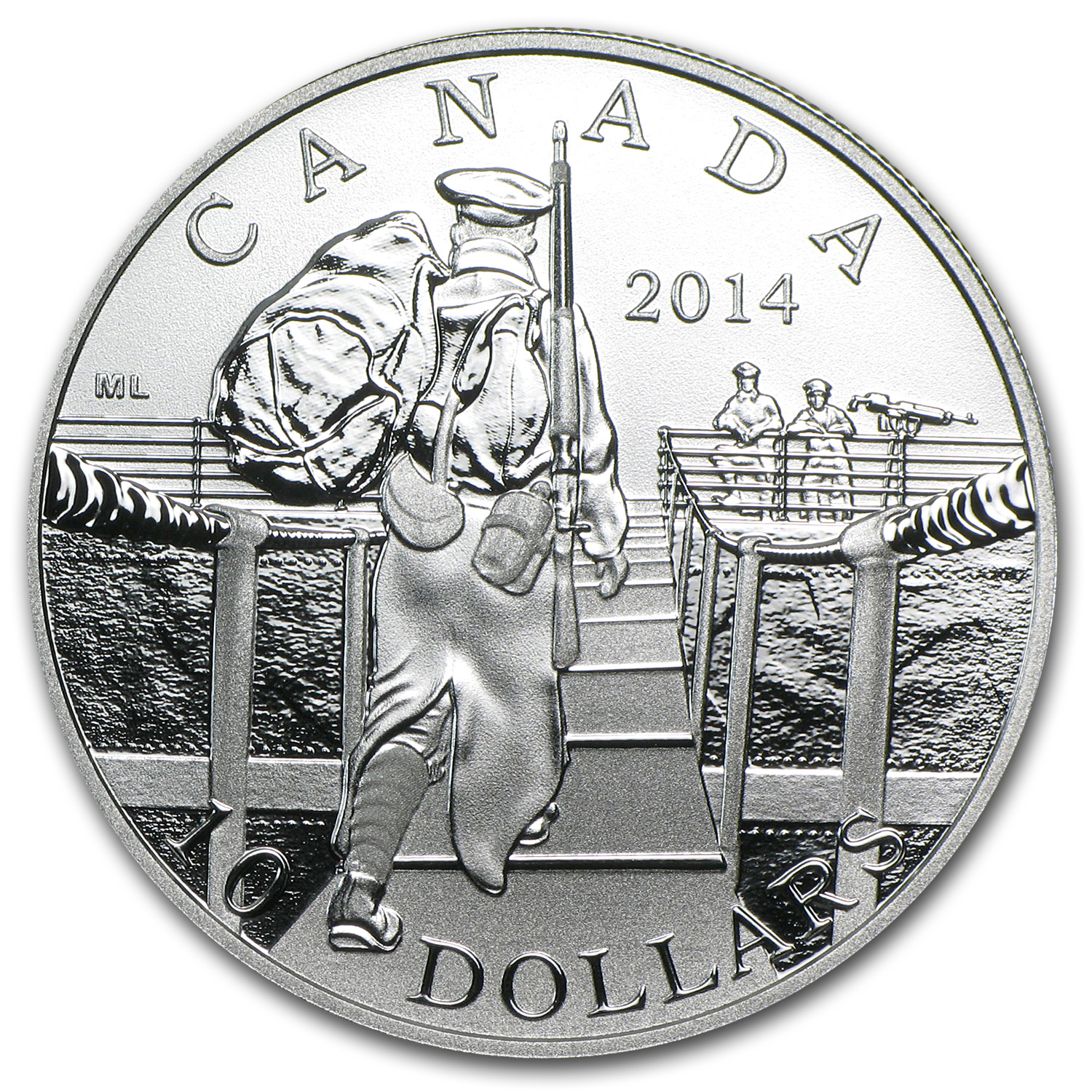 2014 Canada 1/2 oz Silver The Mobilization of Our Nation WW1