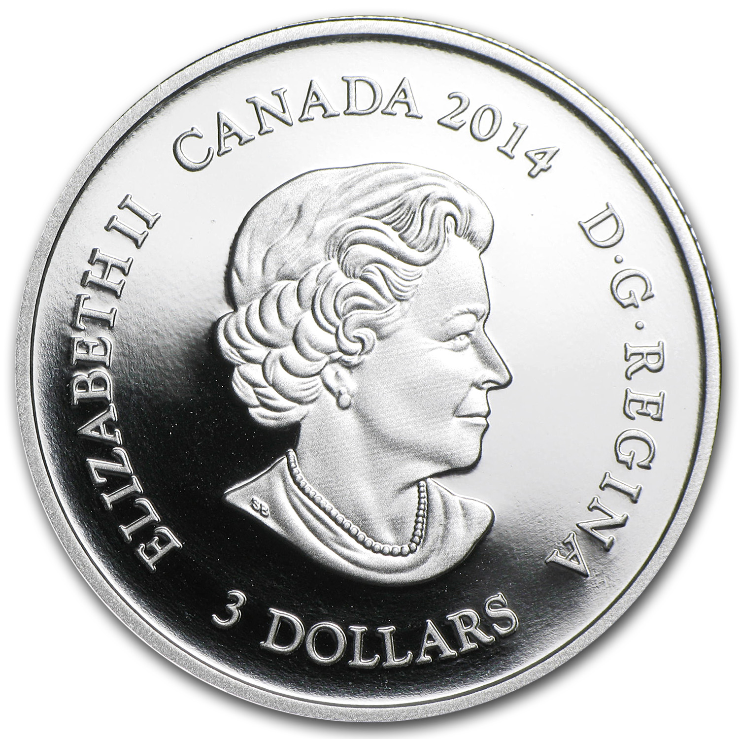 2014 Canada 1/4 oz Silver $3 Jewel of Life Proof (Gilded)