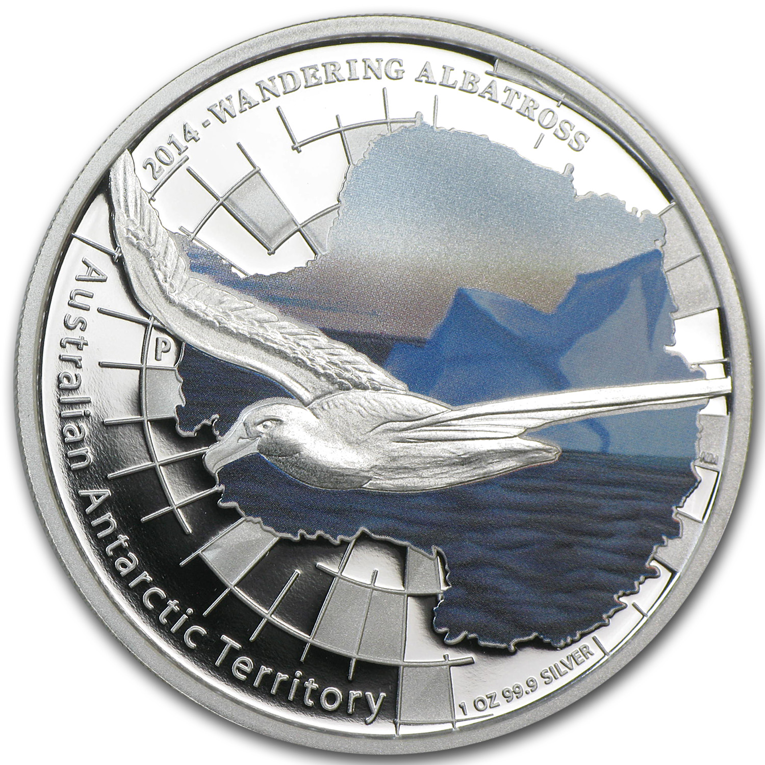 2014 1 oz Proof Silver Wandering Albatross - Australian Antarctic