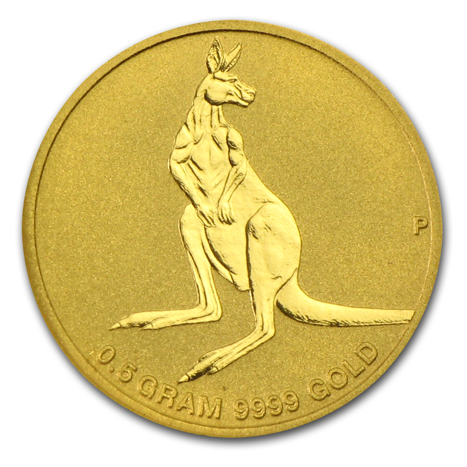 2014 Australia 1/2 Gram Gold Kangaroo Mini Roo BU (Assay Card)