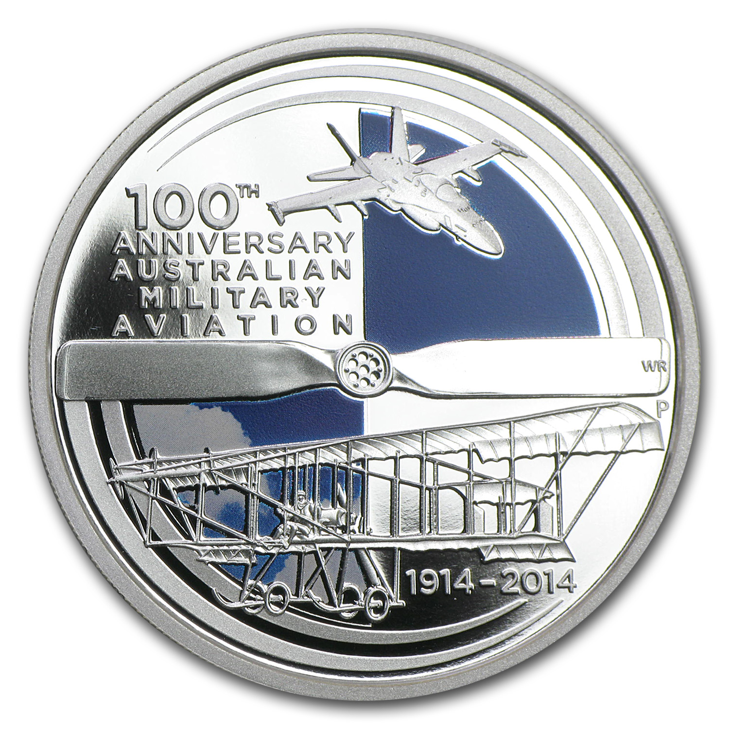 2014 1 oz Silver Proof 100 Years of Australian Military Aviation