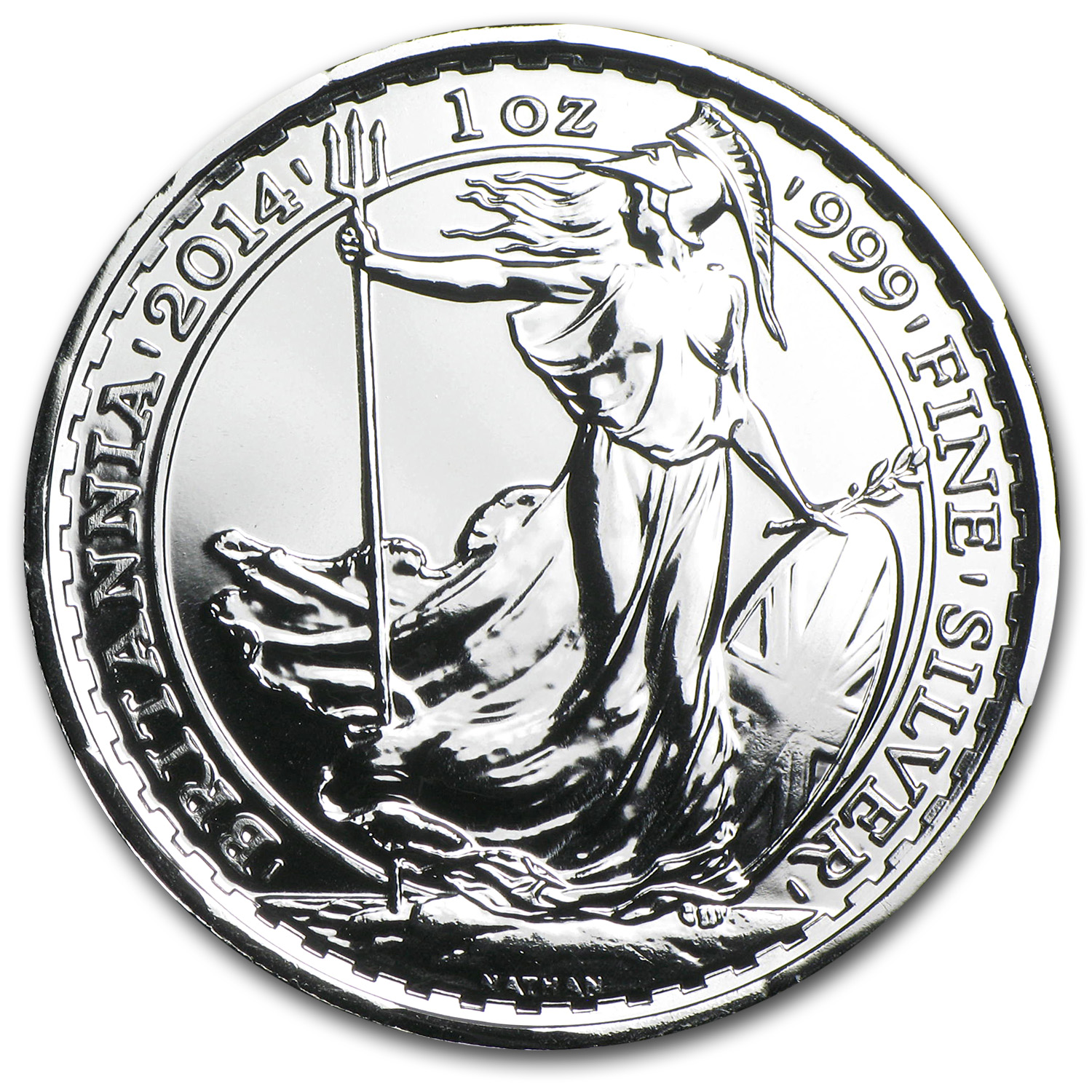 2014 1 oz Silver Britannia BU (w/Year of the Horse Privy Mark)