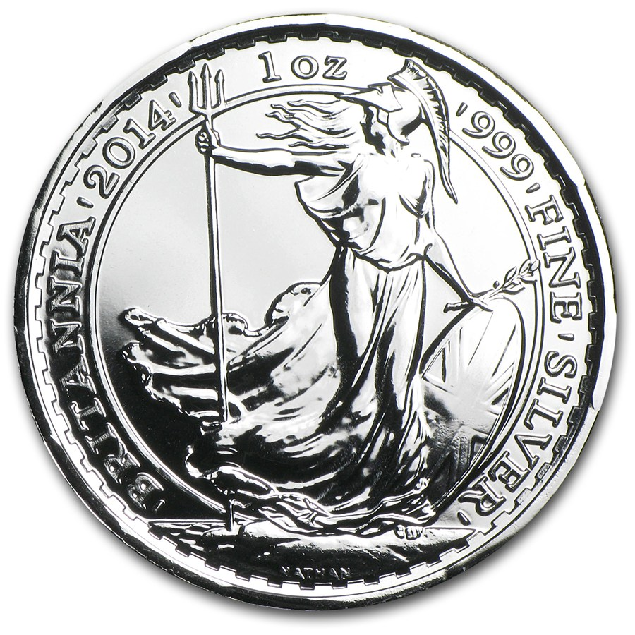 2014 1 Oz Silver Britannia Bu W Year Of The Horse Privy