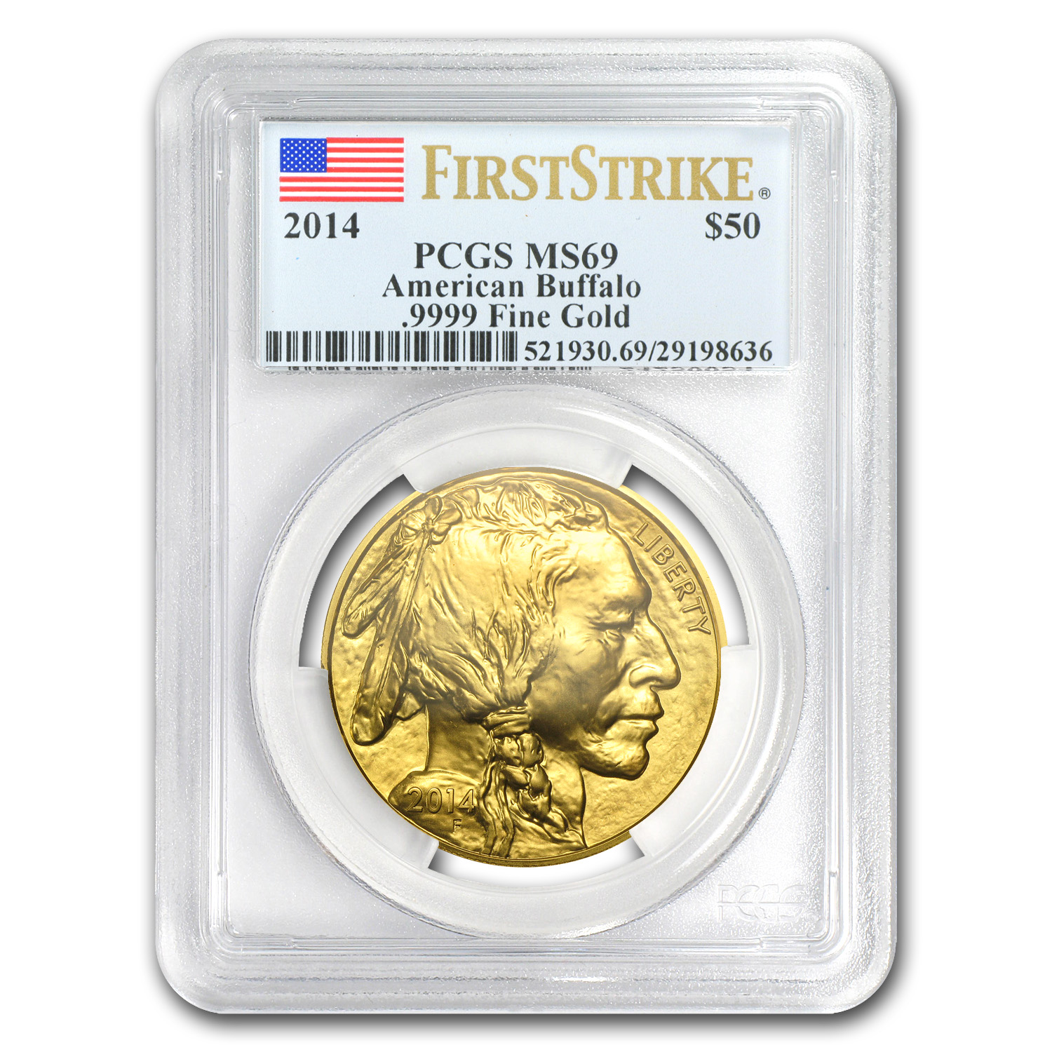 2014 1 oz Gold Buffalo MS-69 PCGS (First Strike)