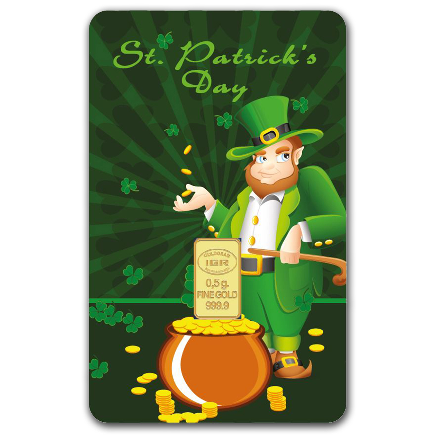 1/2 gram Gold Bar - Istanbul Gold Refinery (St. Patrick's Day)
