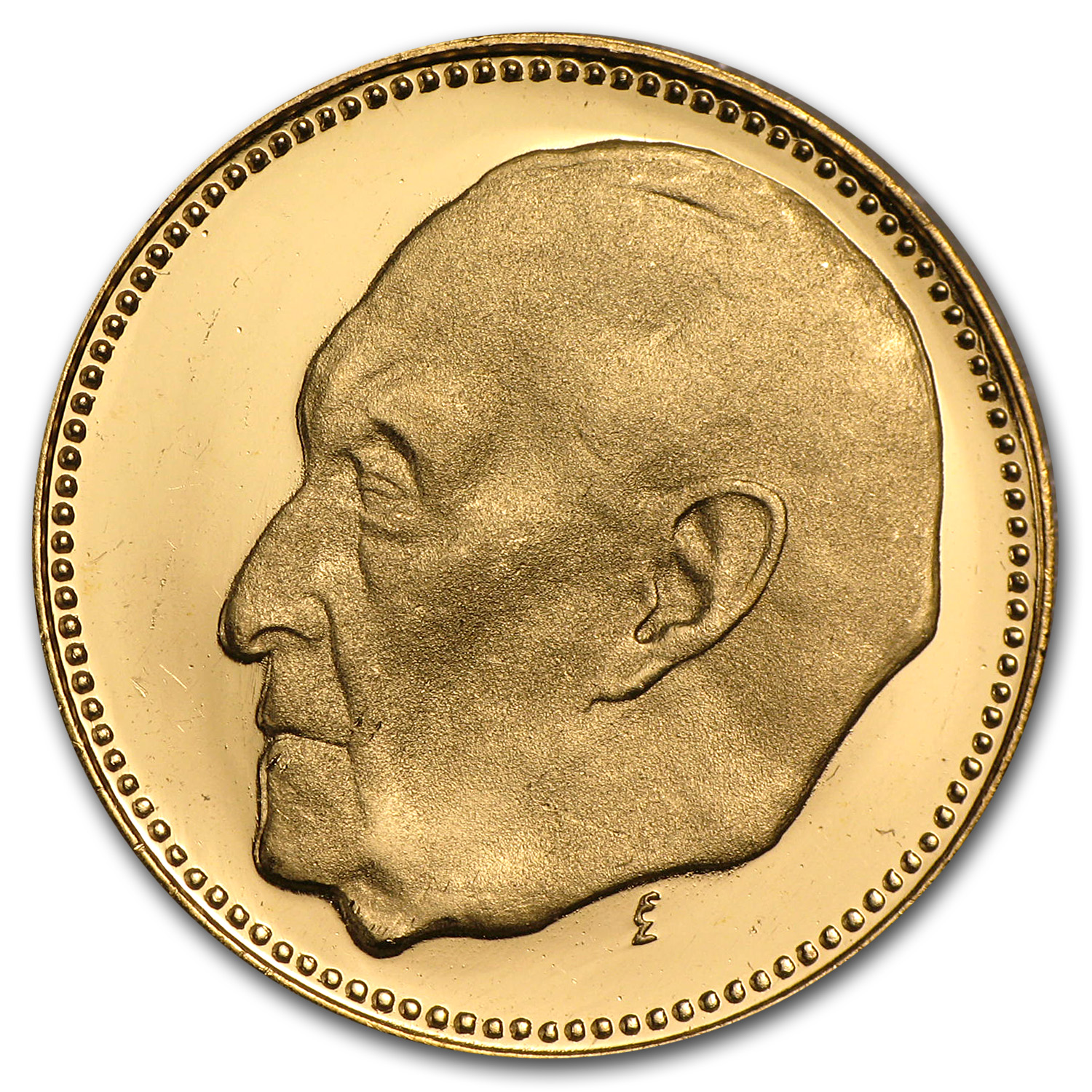 1957 Germany Proof Gold Medal Adenauer