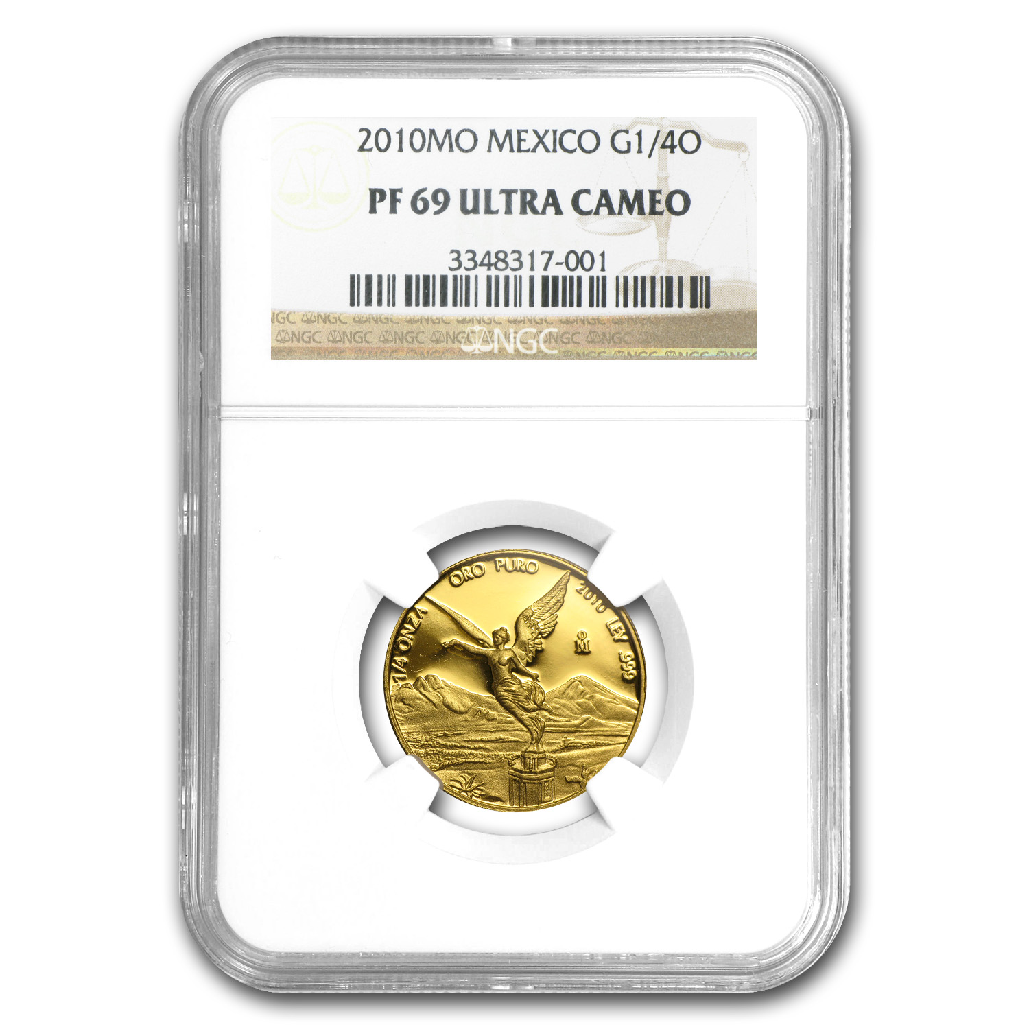 2010 Mexico 1/4 oz Gold Libertad PF-69 NGC