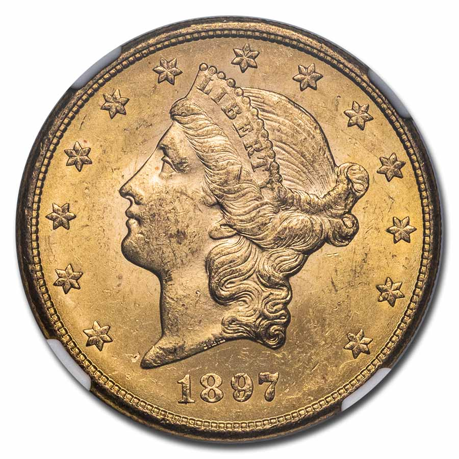 1897-S $20 Liberty Gold Double Eagle MS-63 NGC