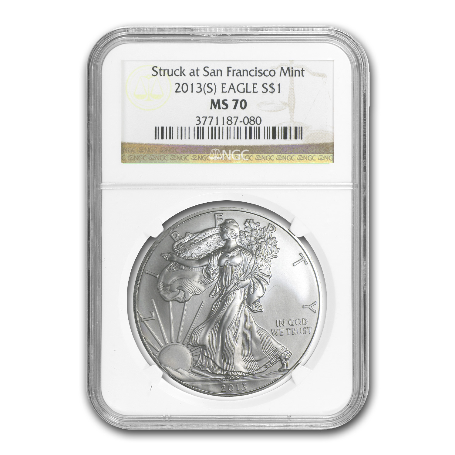 2013 (S) Silver American Eagle MS-70 NGC